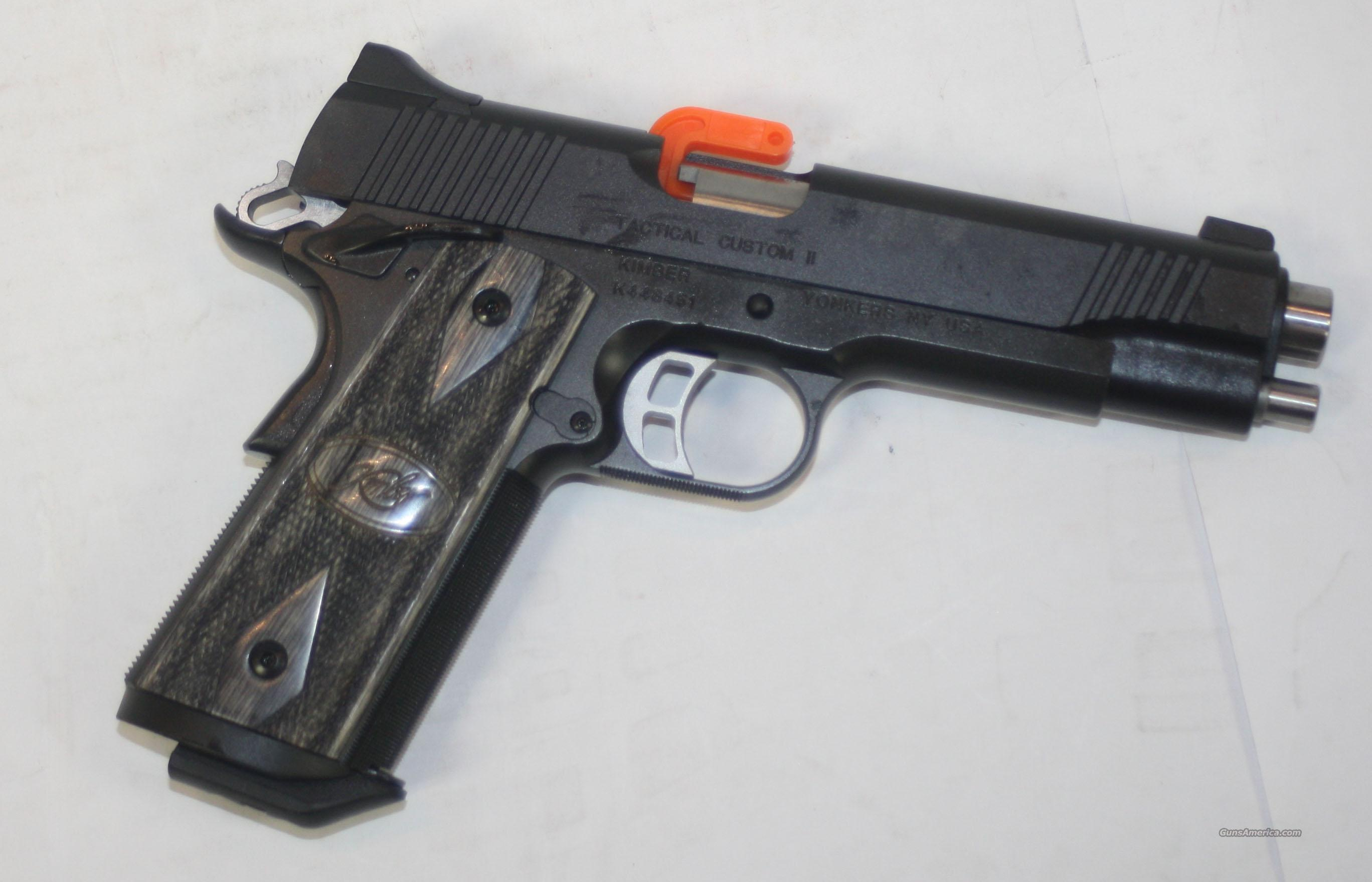 KIMBER TACTICAL CUSTOM II 45 ACP NEW IN HARD CASE  Guns > Pistols > Kimber of America Pistols