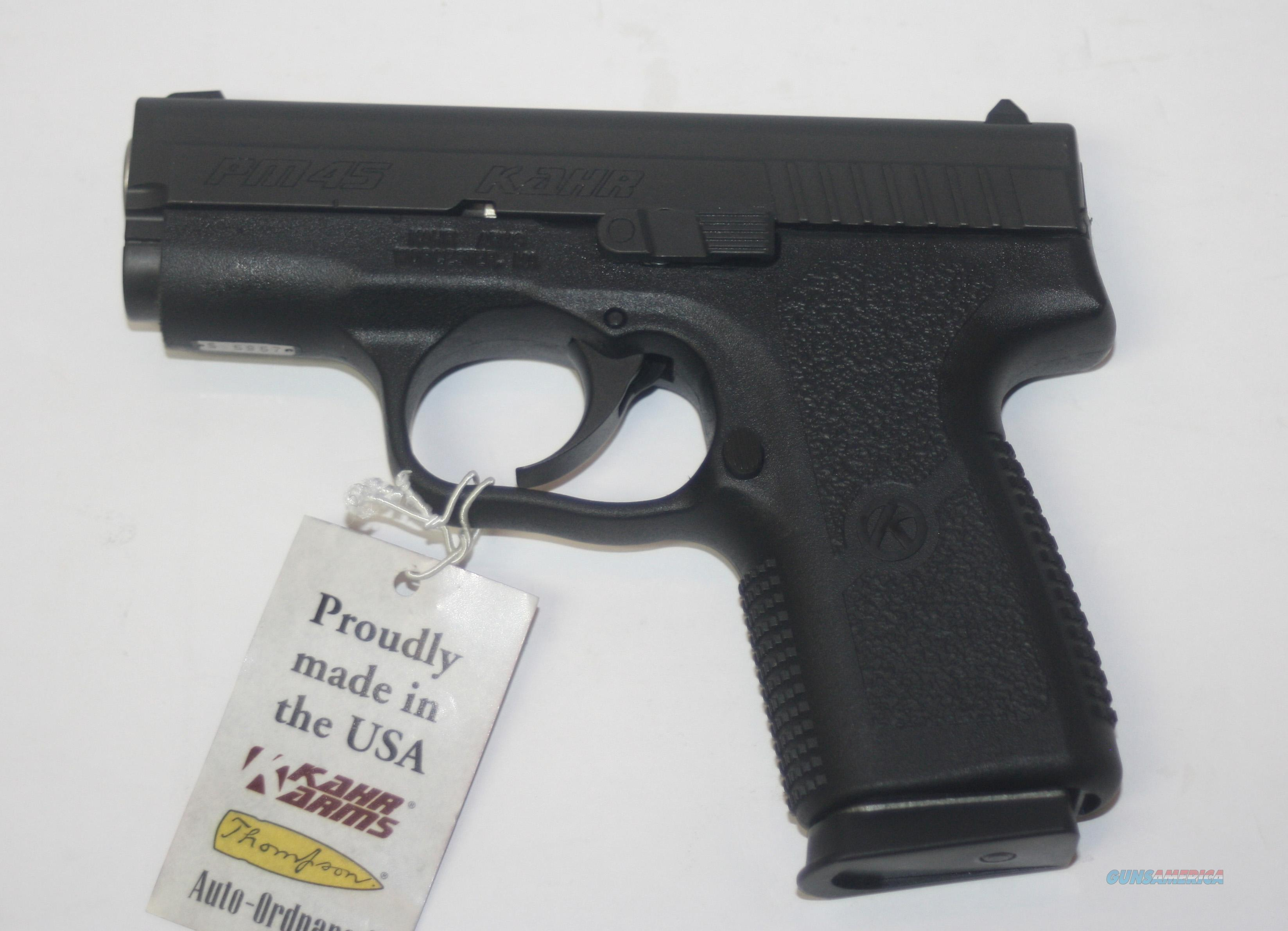 "KAHR ARMS PM4544 MODEL PM45 45 ACP 3.24"" MATTE BLACK NEW IN BOX  Guns > Pistols > Kahr Pistols"