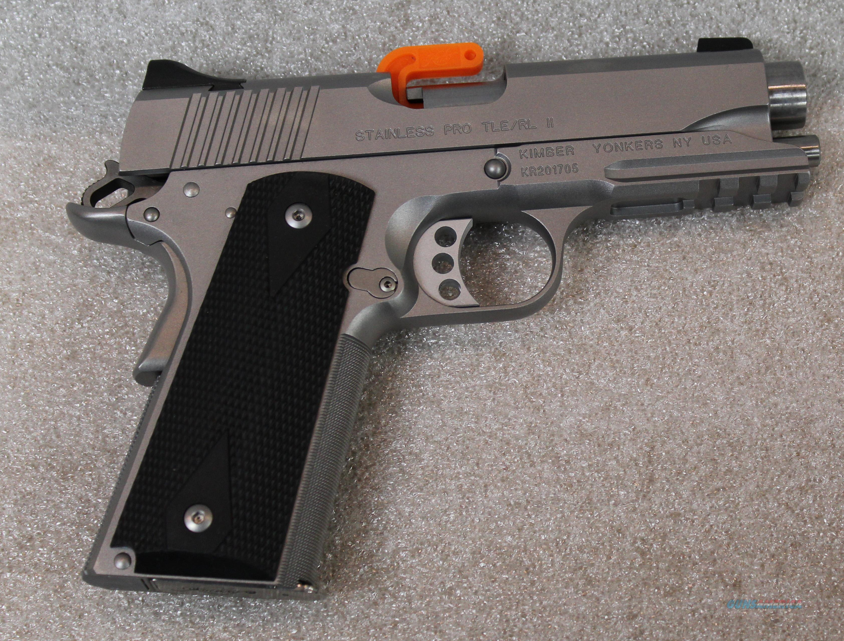 KIMBER STAINLESS PRO TLE II WITH RAIL 45 ACP NEW IN BOX  Guns > Pistols > Kimber of America Pistols