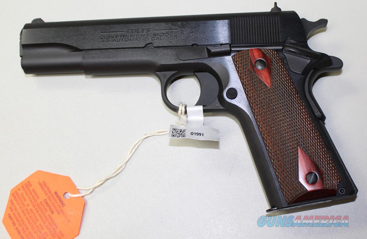 COLT 1991 GOVERNMENT MODEL 5 INCH 45 ACP BLUED CARBON STEEL NEW IN BOX  Guns > Pistols > Colt Automatic Pistols (1911 & Var)