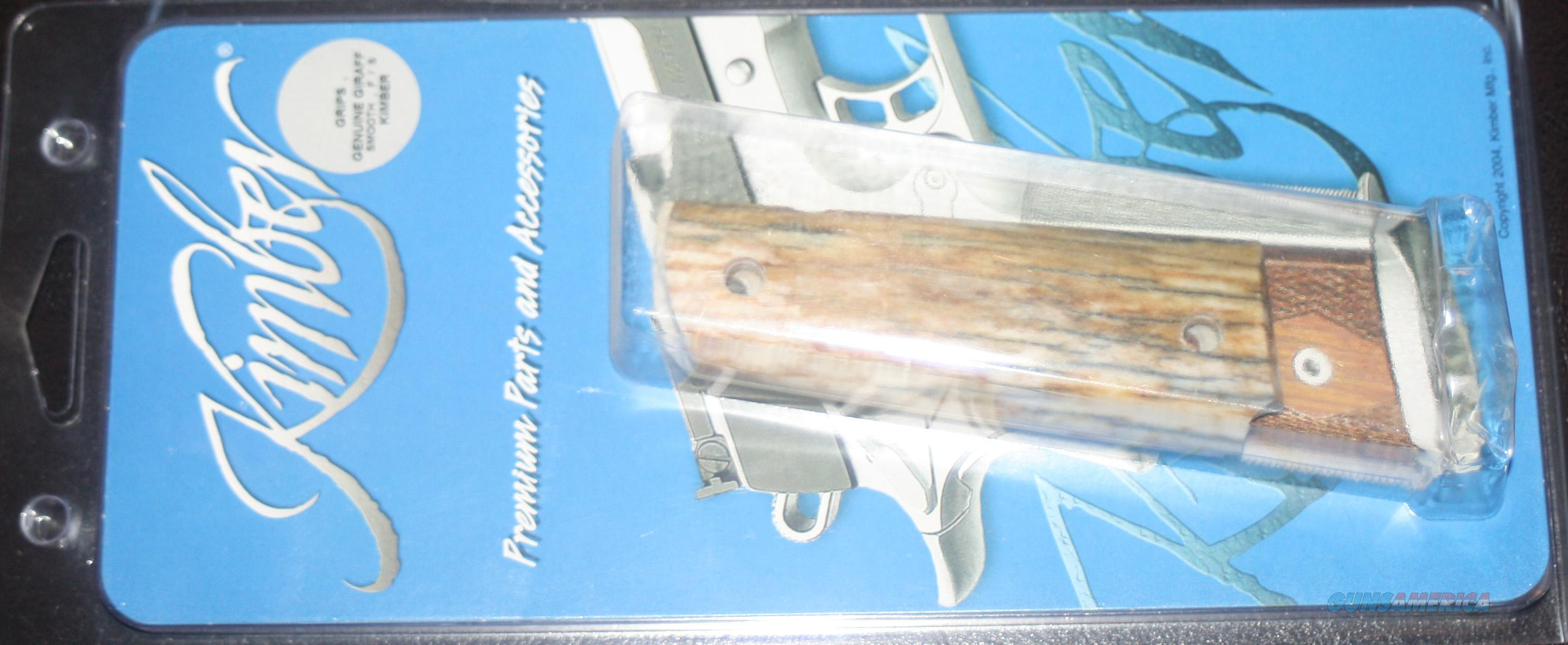 KIMBER GENUINE GIRAFFE BONE 1911 CUSTOM GRIPS  Non-Guns > Gun Parts > 1911
