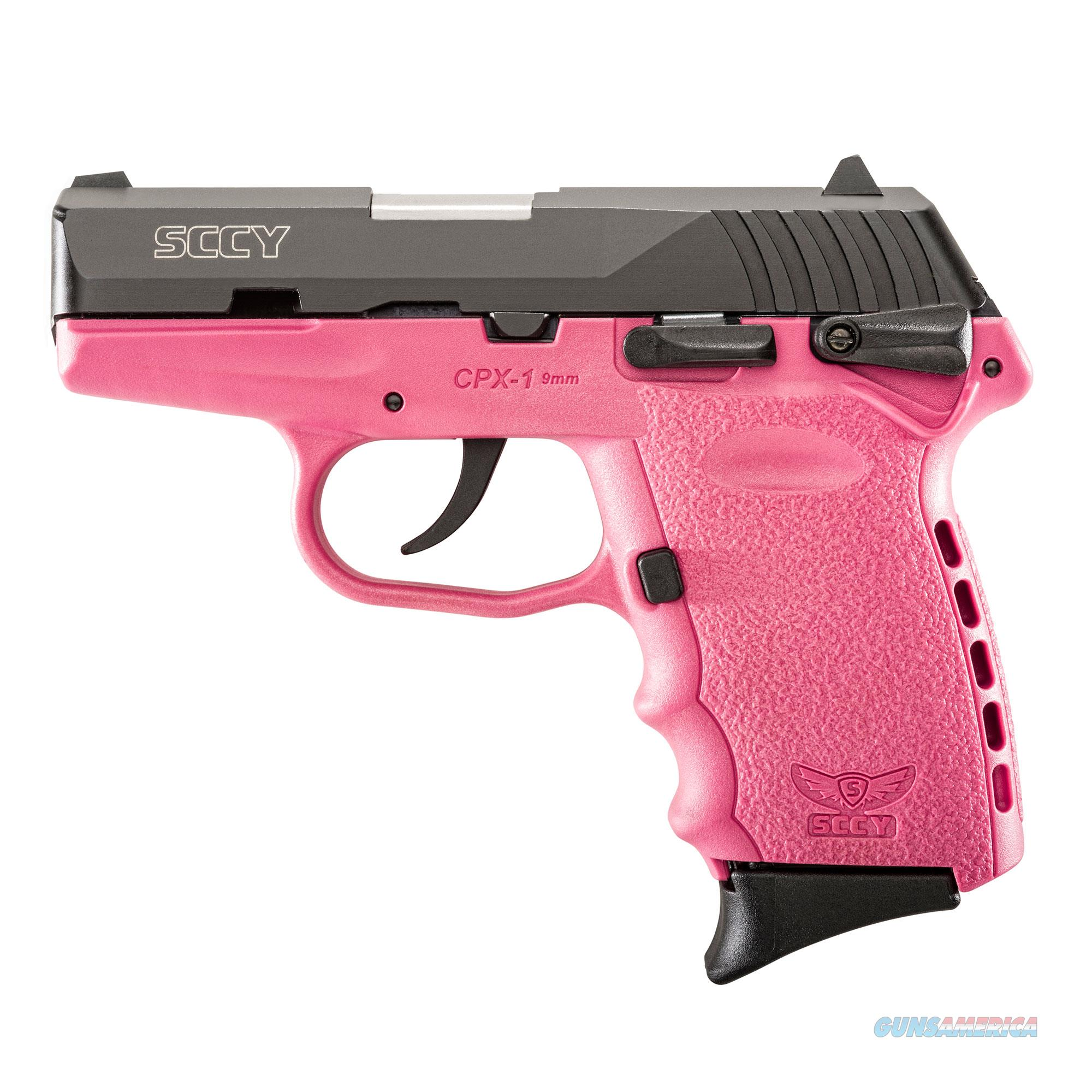SCCY CPX-1 9MM MATTE / PINK 10+1 CAPACITY NEW IN BOX  Guns > Pistols > SCCY Pistols > CPX1
