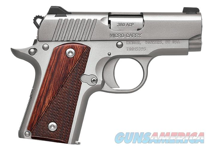 KIMBER MICRO 380 STAINLESS WITH ROSEWOOD CHECKERED GRIPS NEW IN BOX Guns > Pistols >  Kimber of America Pistols > Micro