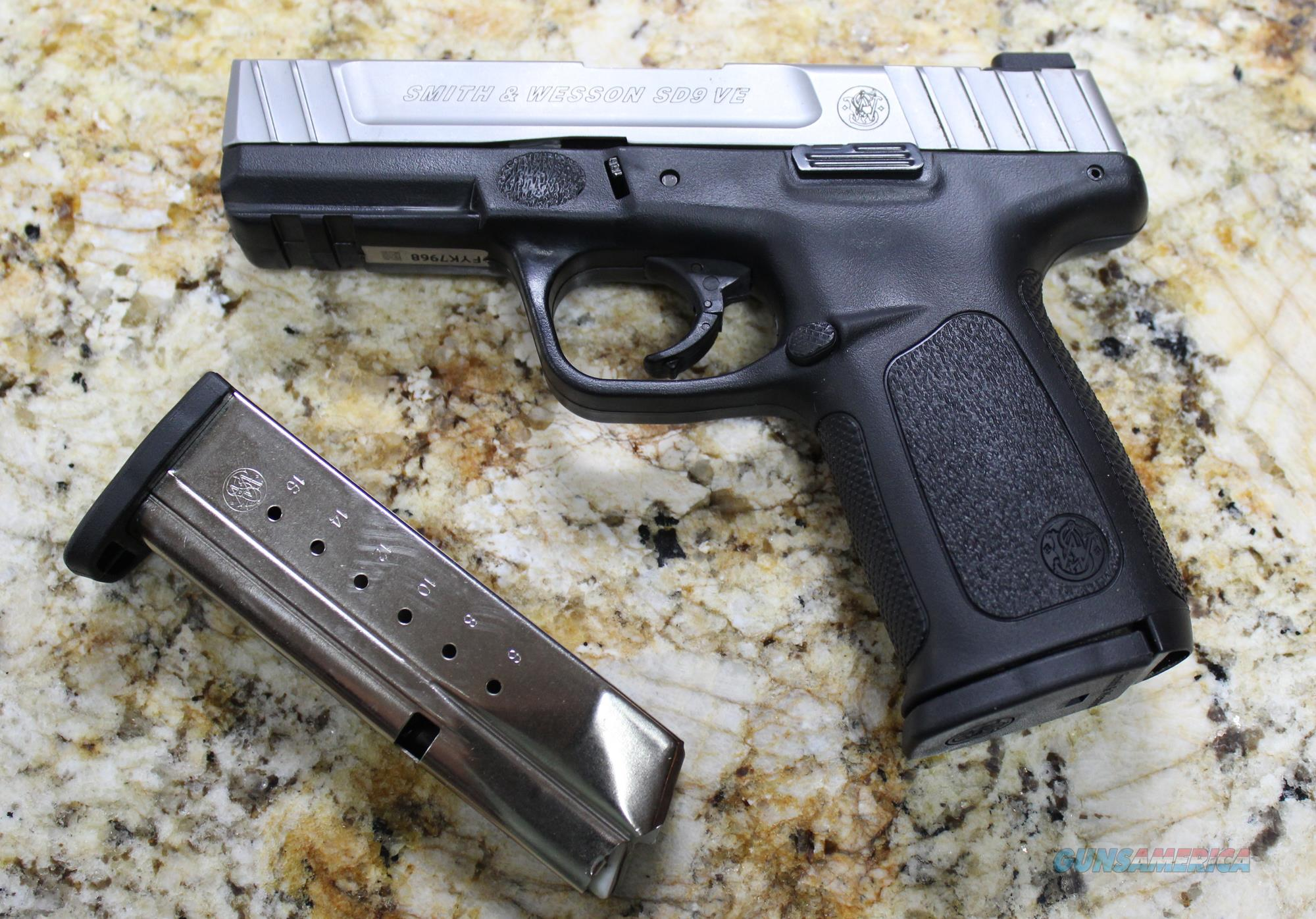 SMITH & WESSON SD9 VE 9MM LIKE NEW IN THE ORIGINAL BOX  Guns > Pistols > Smith & Wesson Pistols - Autos > Polymer Frame