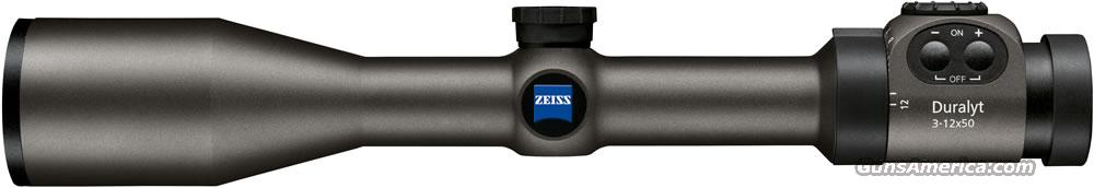 ZEISS ZF DURALYT 3-12X50MM #60 ILLUMINATED RETICLE NEW IN BOX --- SHOP --- COMPARE --- AND SAVE  Non-Guns > Scopes/Mounts/Rings & Optics > Rifle Scopes > Variable Focal Length