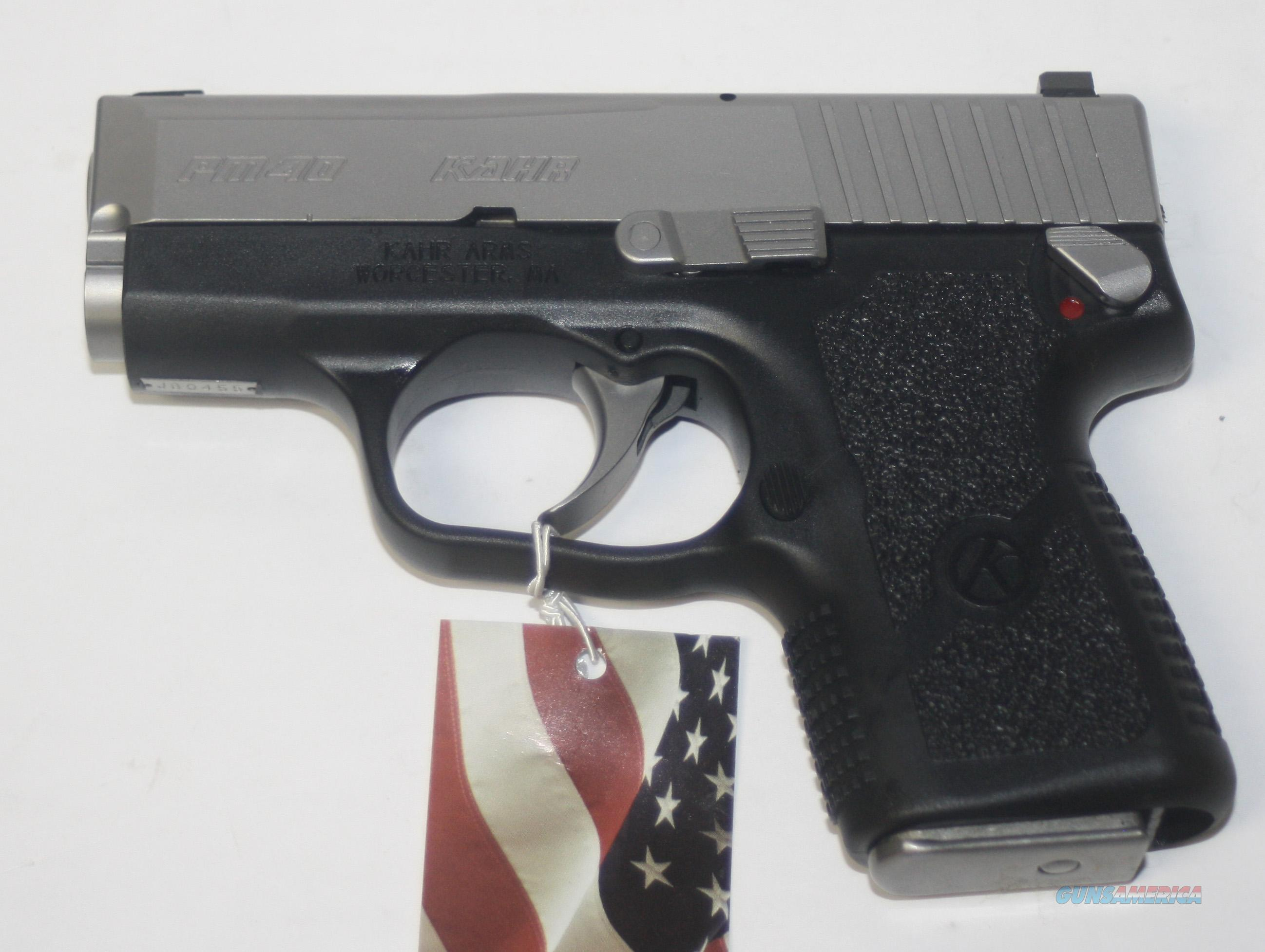 KAHR ARMS PM4143N MODEL PM40 40 S&W WITH EXTERNAL SAFETY AND LCI AND TRITIUM NIGHT SIGHTS NEW IN BOX  Guns > Pistols > Kahr Pistols