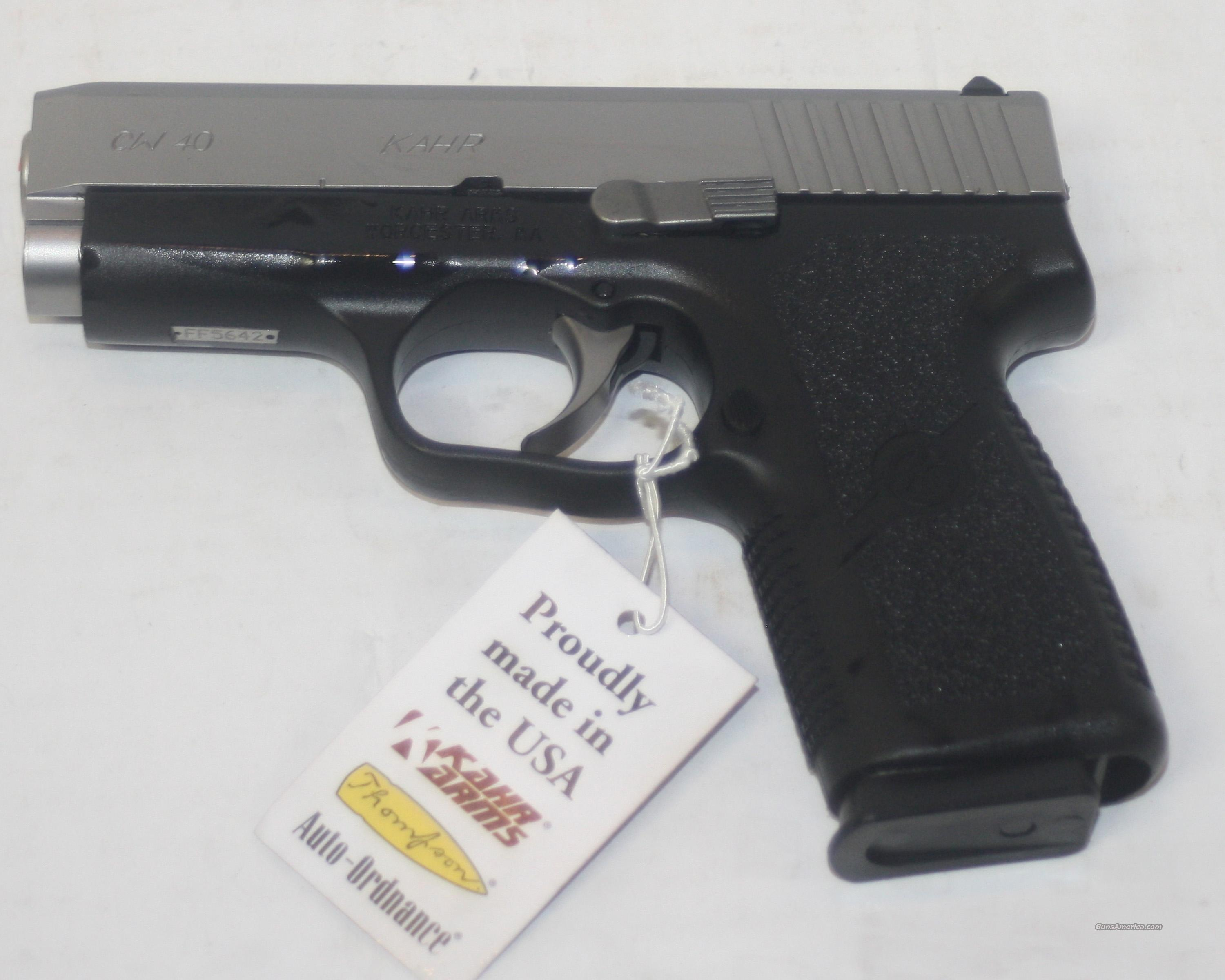 KAHR CW4043 CW40 40 S&W 3.5 INCH STAINLESS / POLY NEW IN BOX  Guns > Pistols > Kahr Pistols