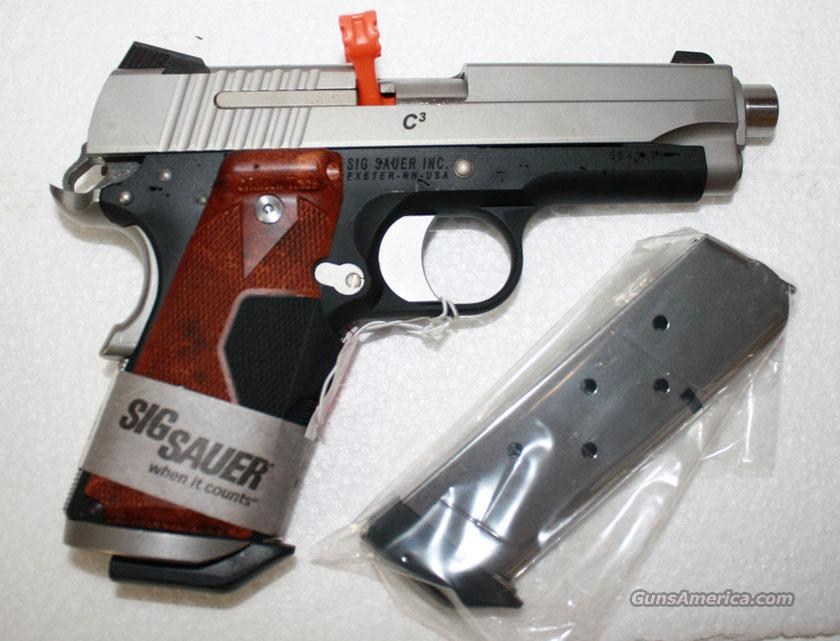 SIG 1911 COMPACT 45ACP TSS C3P O TWO TONE WITH CRIMSON TRACE GRIPS NEW IN HARD CASE BLACK FRIDAY  Guns > Pistols > Sig - Sauer/Sigarms Pistols > 1911
