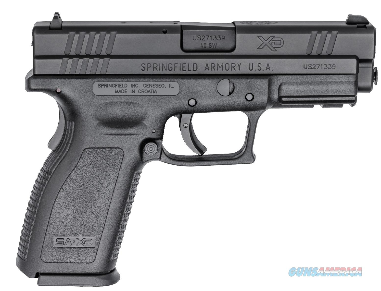"SPRINGFIELD XD 40 S&W 4"" BLACK W/2 MAGAZINES 12+1 NEW IN HARD CASE  Guns > Pistols > Springfield Armory Pistols > XD (eXtreme Duty)"