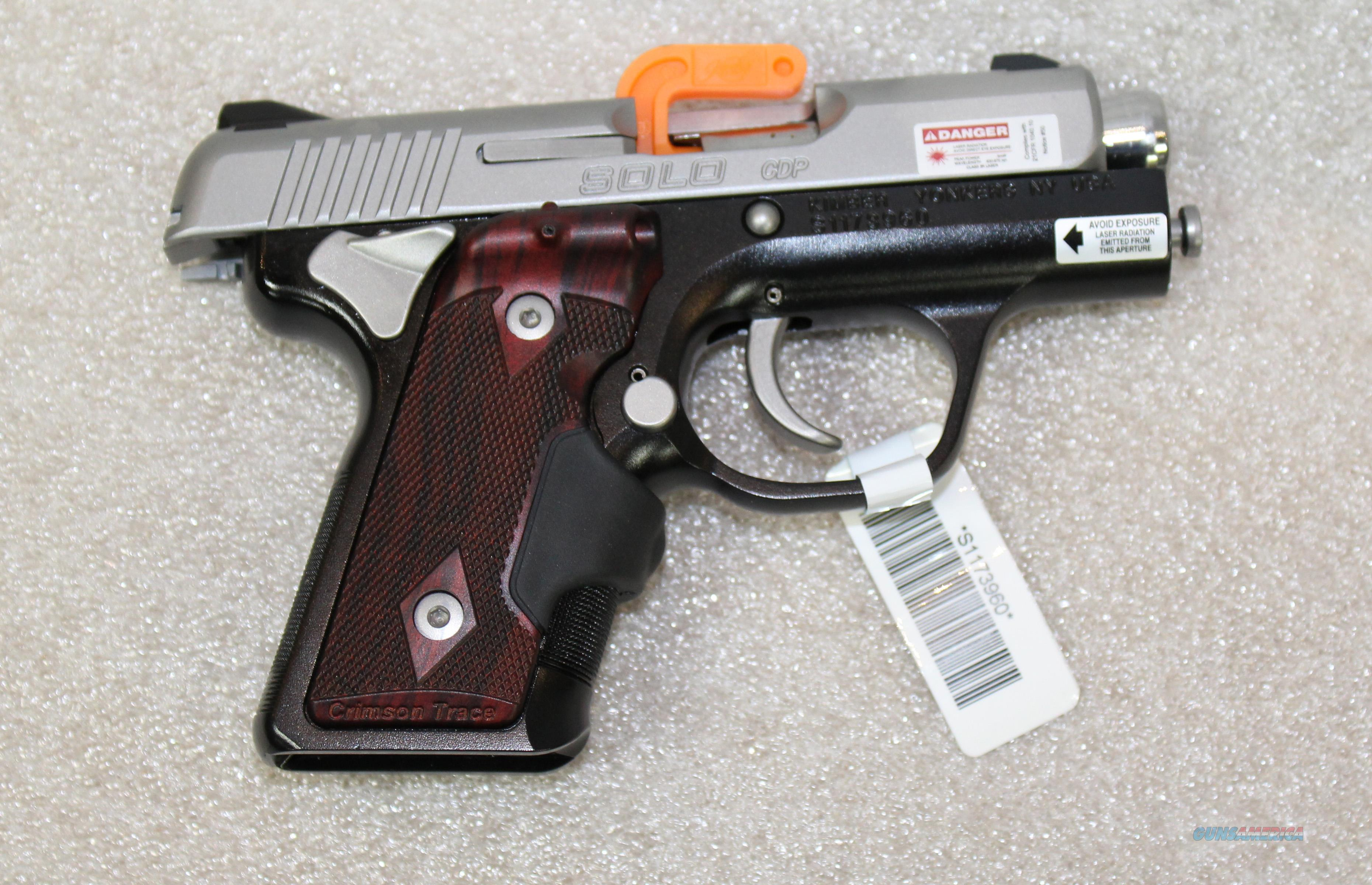 KIMBER SOLO CDP 9MM TWO TONE WITH CRIMSON TRACE LASER GRIPS NEW IN BOX  Guns > Pistols > Kimber of America Pistols
