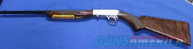 BROWNING GRADE VI TAKE DOWN 22 LONG RIFLE SEMI-AUTO GREY WITH GOLD NEW IN BOX  Guns > Rifles > Browning Rifles > Semi Auto > Hunting