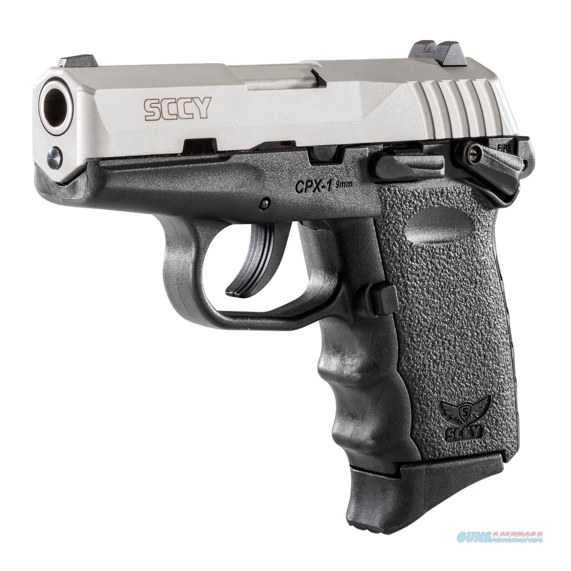 SCCY CPX-1 9MM TWO TONE STAINLESS / BLACK 10+1 CAPACITY  Guns > Pistols > SCCY Pistols > CPX1
