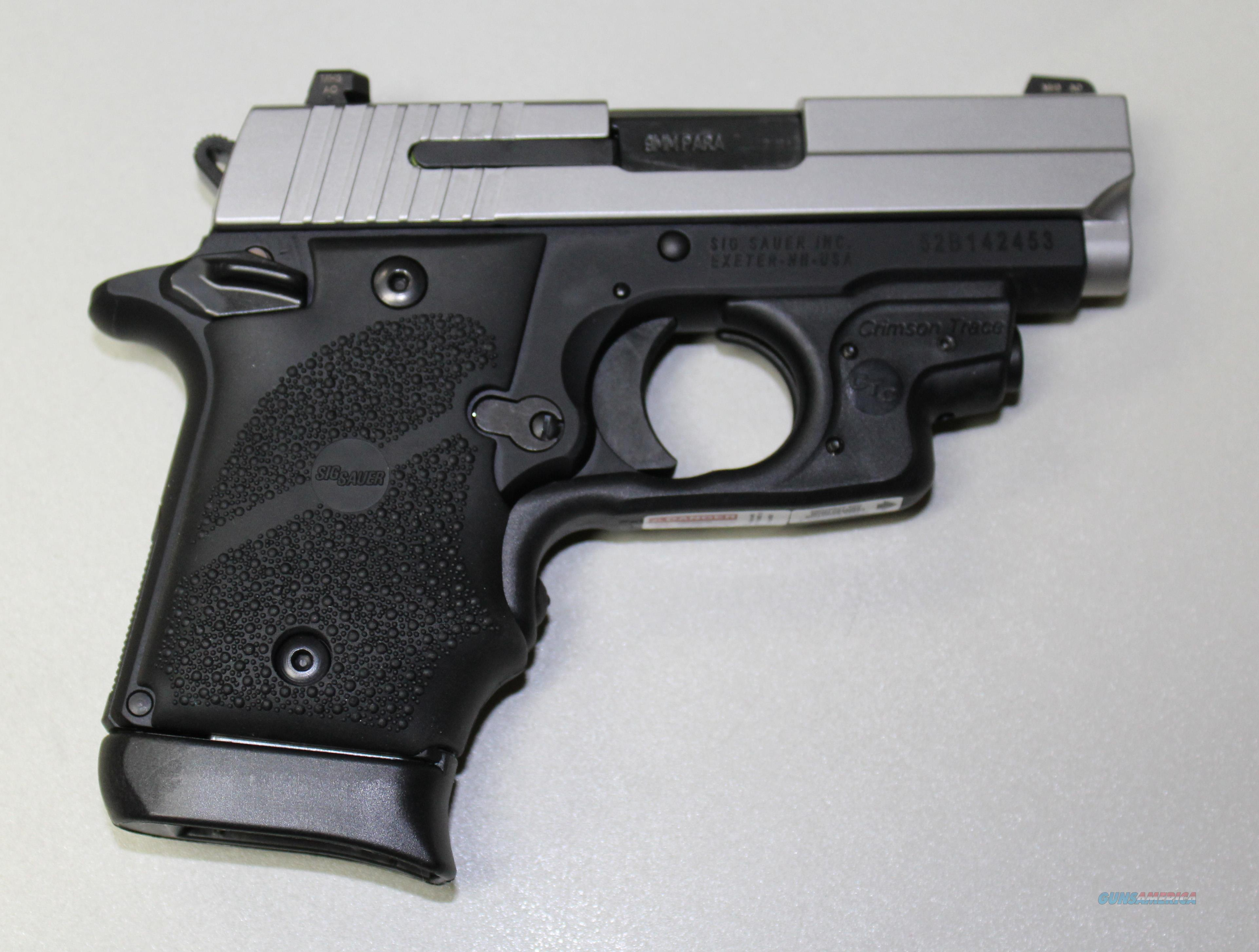 "SIG SAUER P938 9MM 3"" TWO TONE WITH CRIMSON TRACE NEW IN HARD CASE  Guns > Pistols > Sig - Sauer/Sigarms Pistols > Other"