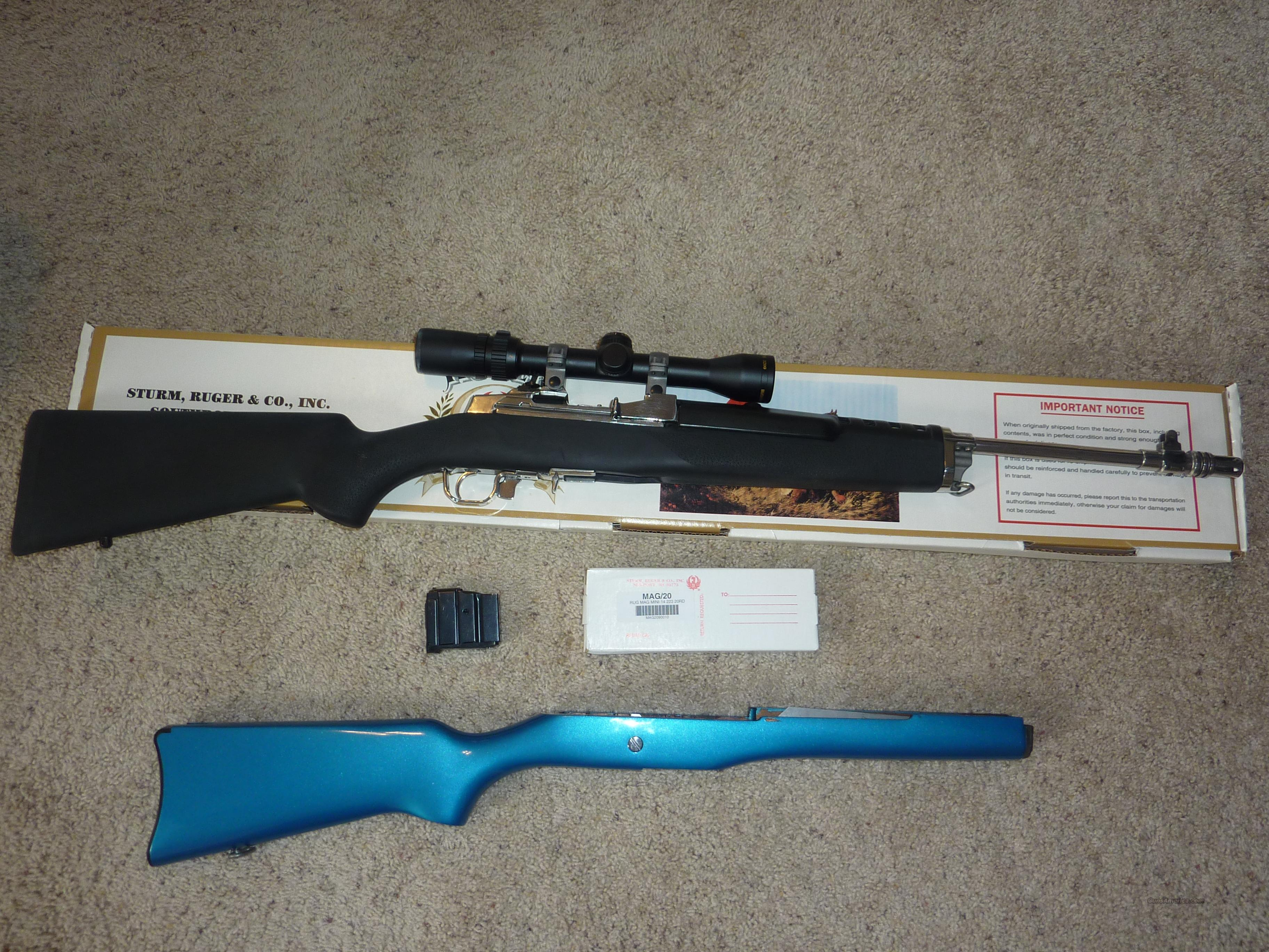 SS Ruger Mini-14 with box and scope. extras  Guns > Rifles > Ruger Rifles > Mini-14 Type