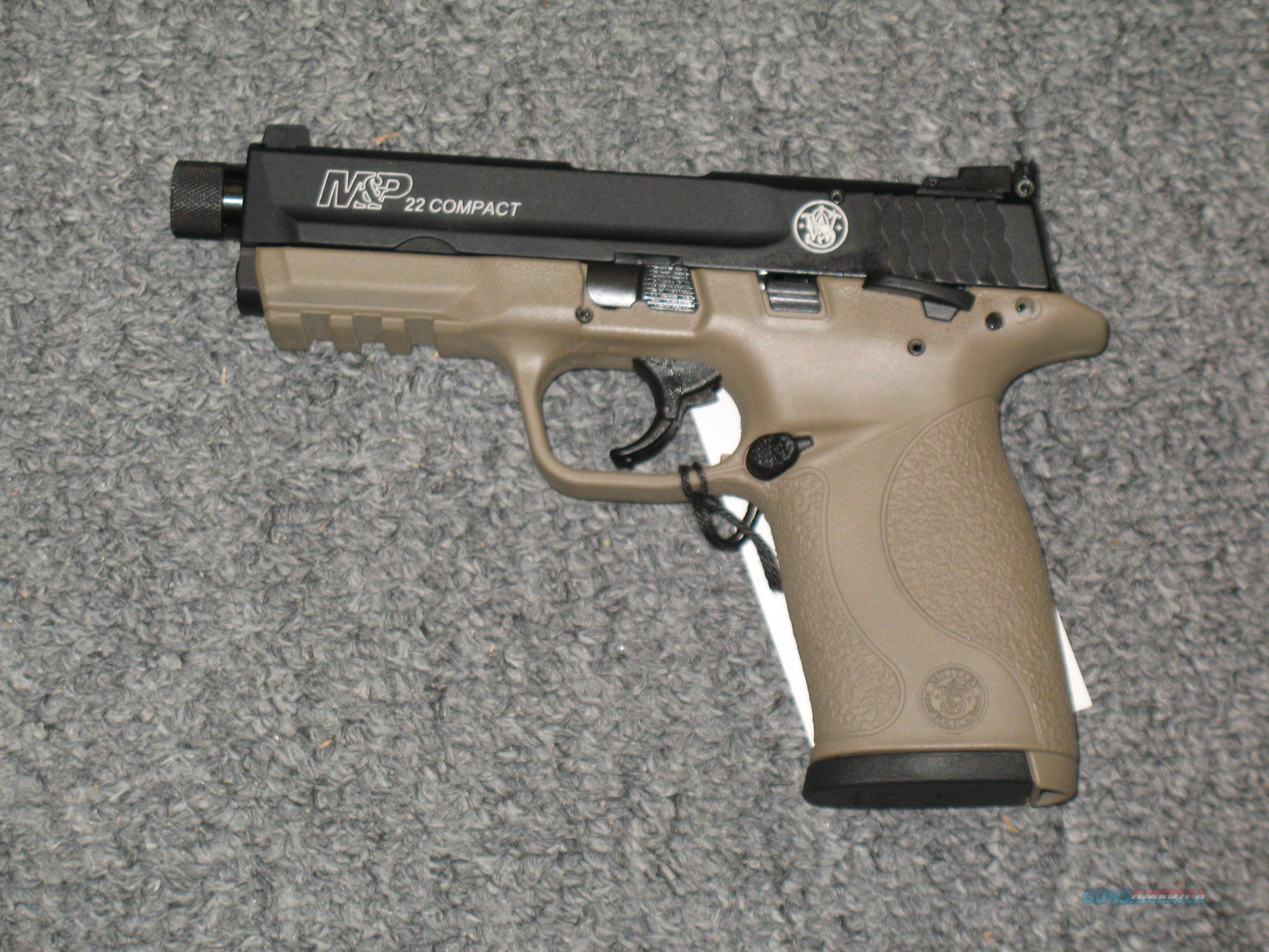 M&P 22C FDE & Black finish Threaded BBl  Guns > Pistols > Smith & Wesson Pistols - Autos > Polymer Frame