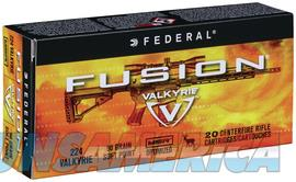 Federal Fusion .224 Valkyrie Ammo  Non-Guns > Ammunition