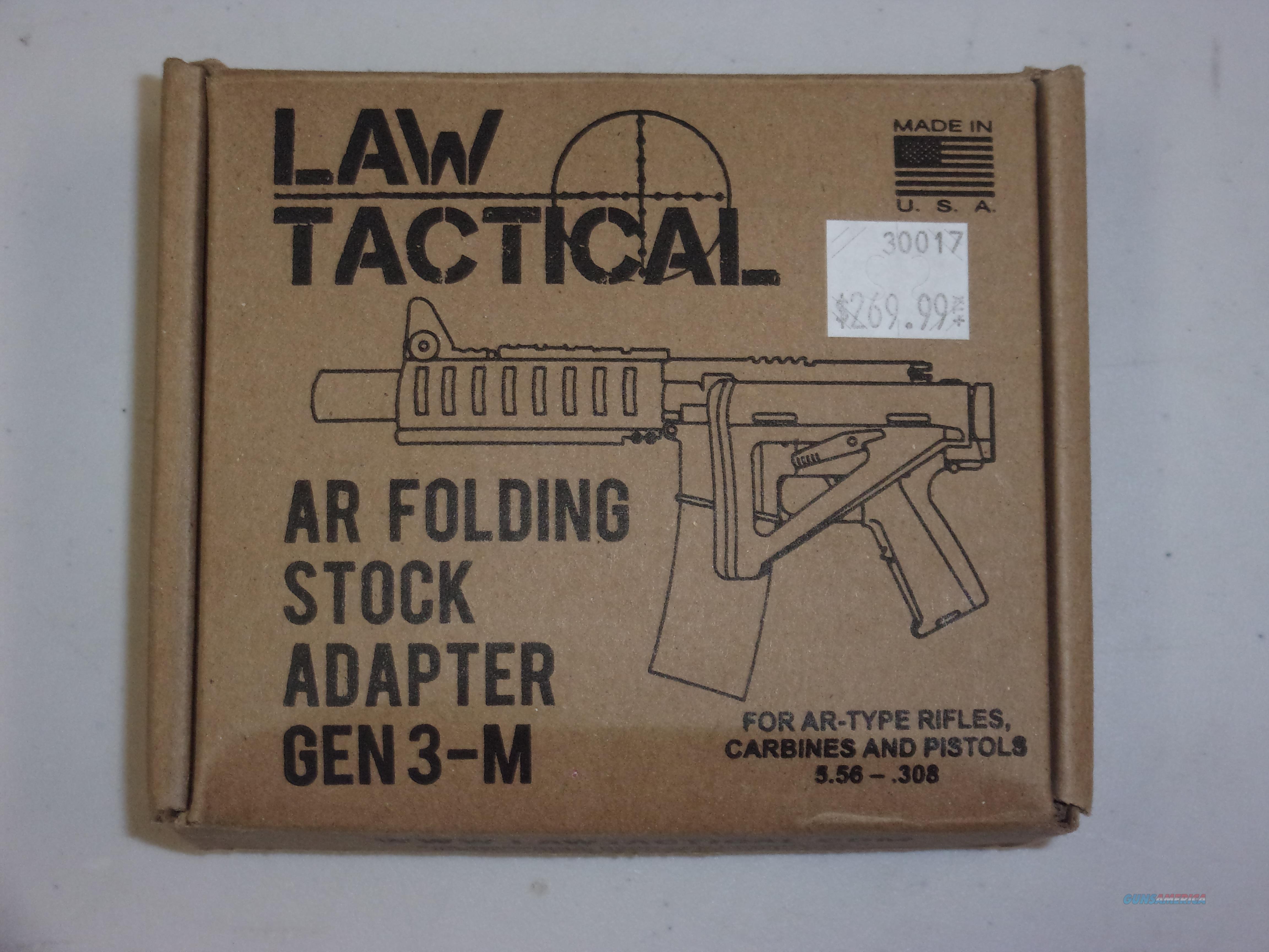 Law Tactical AR Folding Stock Adapter Gen3-M  Non-Guns > Gun Parts > M16-AR15 > Upper Only