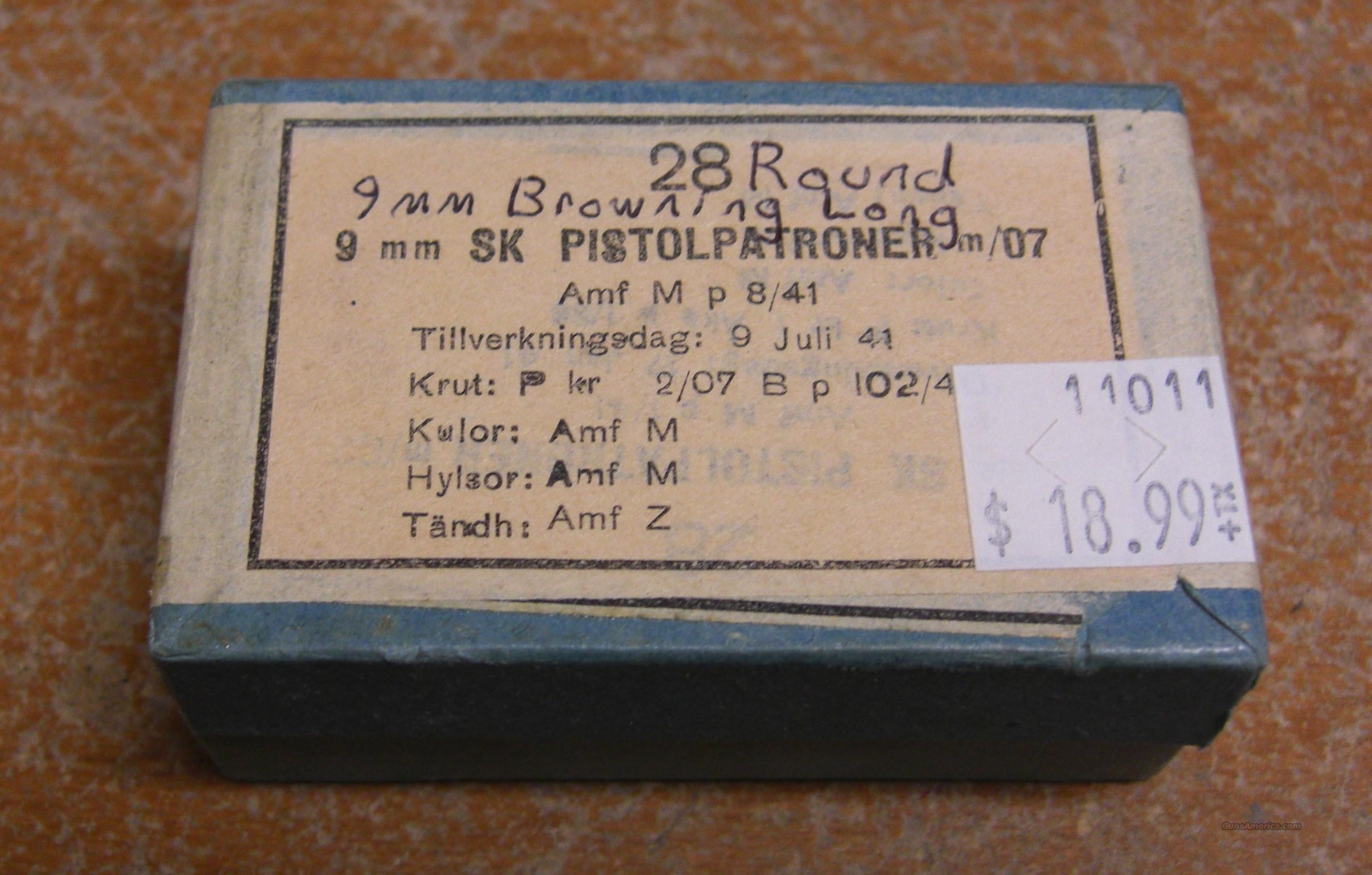 9mm Browning Long ammo  Non-Guns > Ammunition