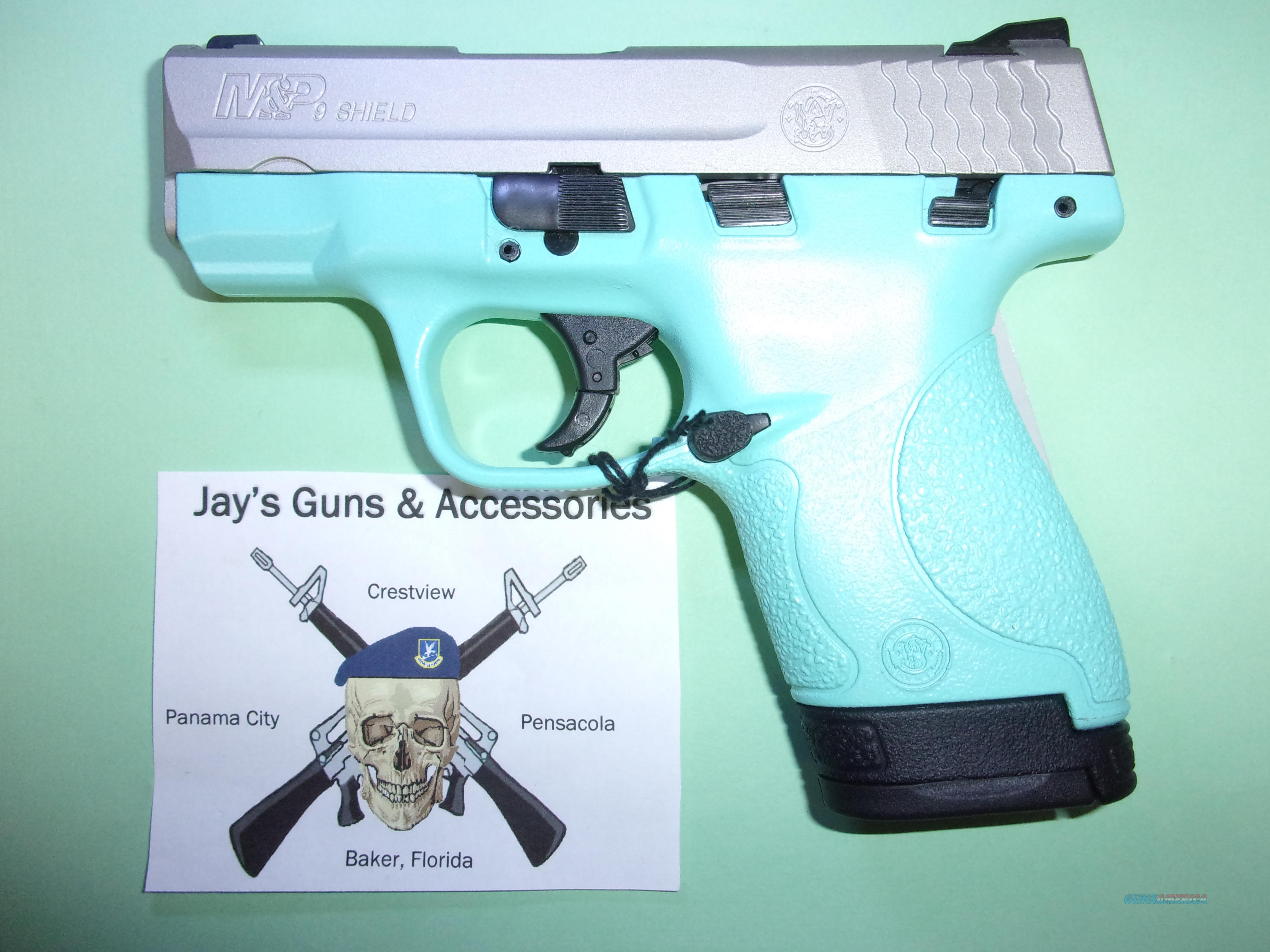 Smith & Wesson M&P 9 Shield w/Teal Frame  Guns > Pistols > Smith & Wesson Pistols - Autos > Shield