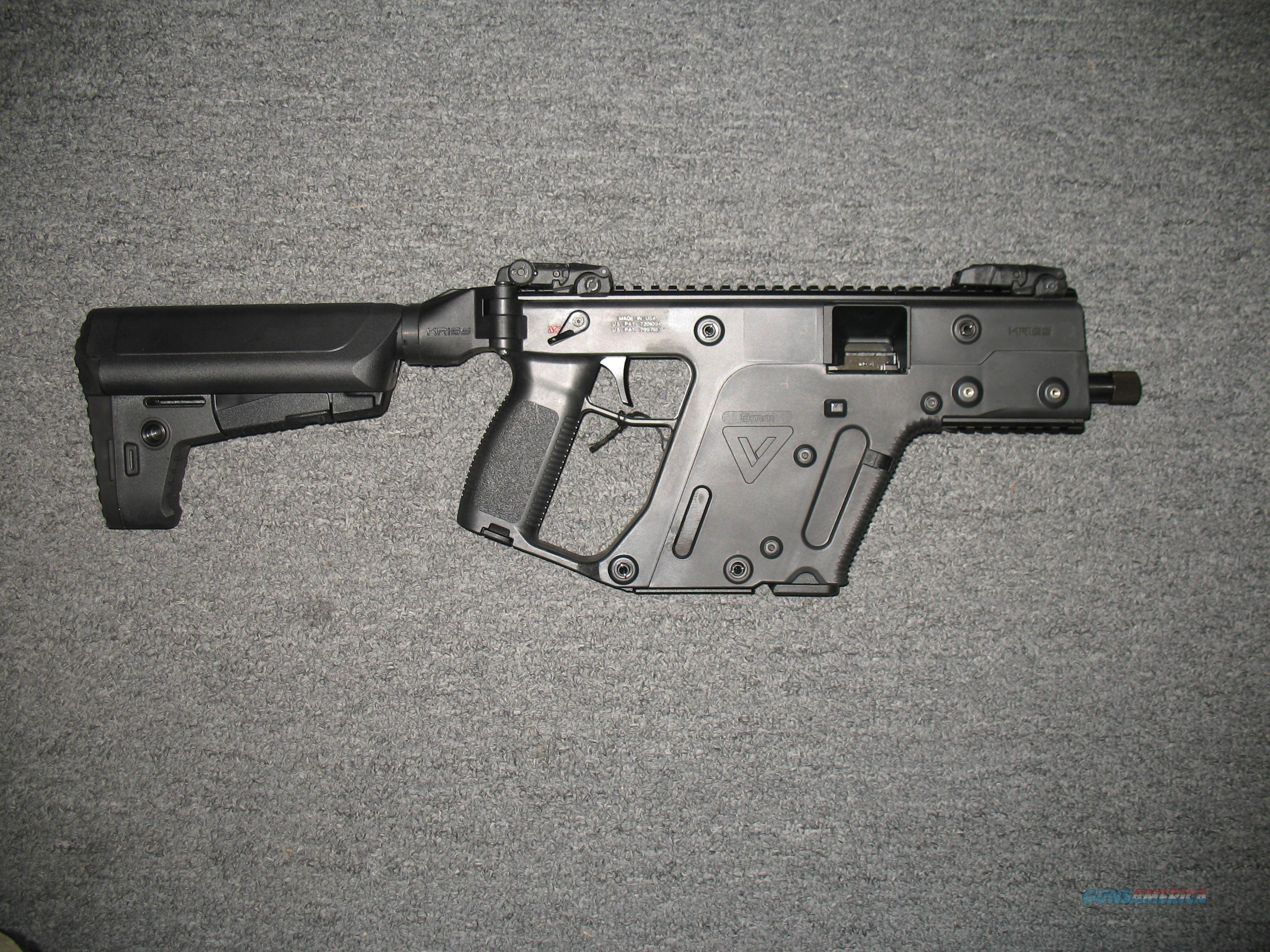 "KRISS Vector SBR black Finish 5.5"" threaded bbl 9mm  Guns > Rifles > Class 3 Rifles > Class 3 Any Other Weapon"