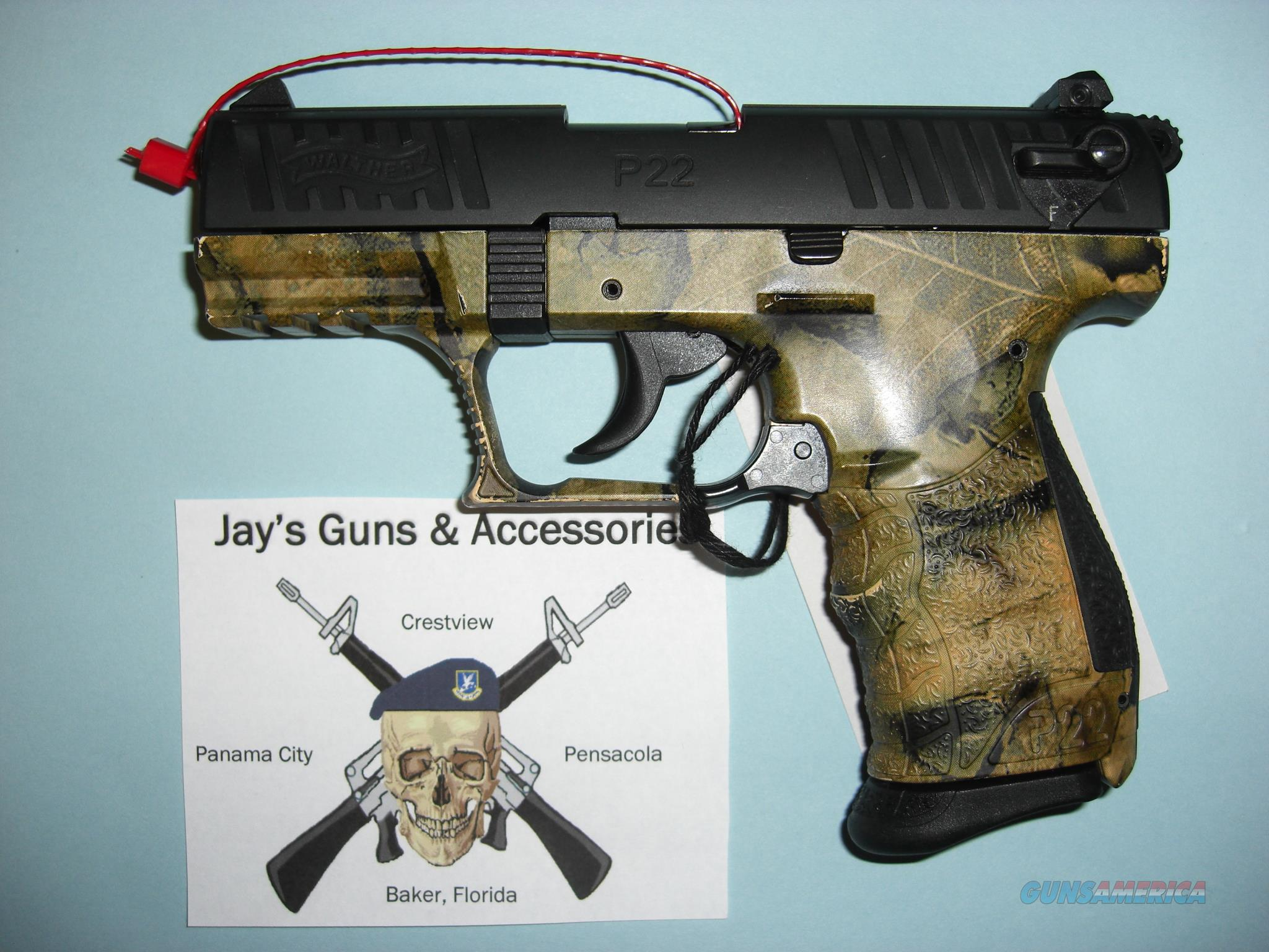 Walther P-22 w/Camo Finish  Guns > Pistols > Walther Pistols > Post WWII > P22