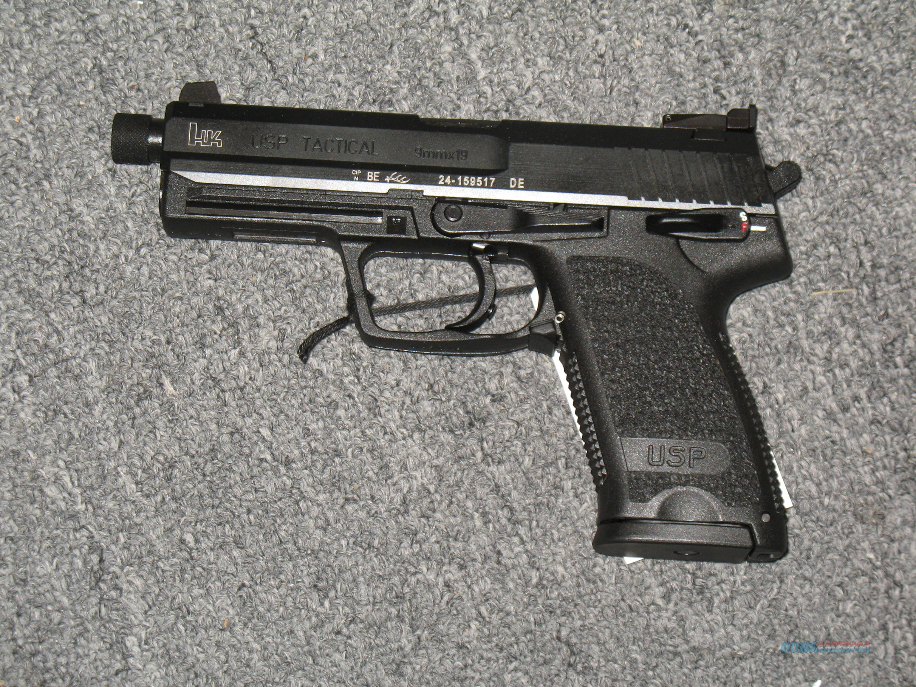 USP 9 Tactical w/threaded bbl.  Guns > Pistols > Heckler & Koch Pistols > Polymer Frame