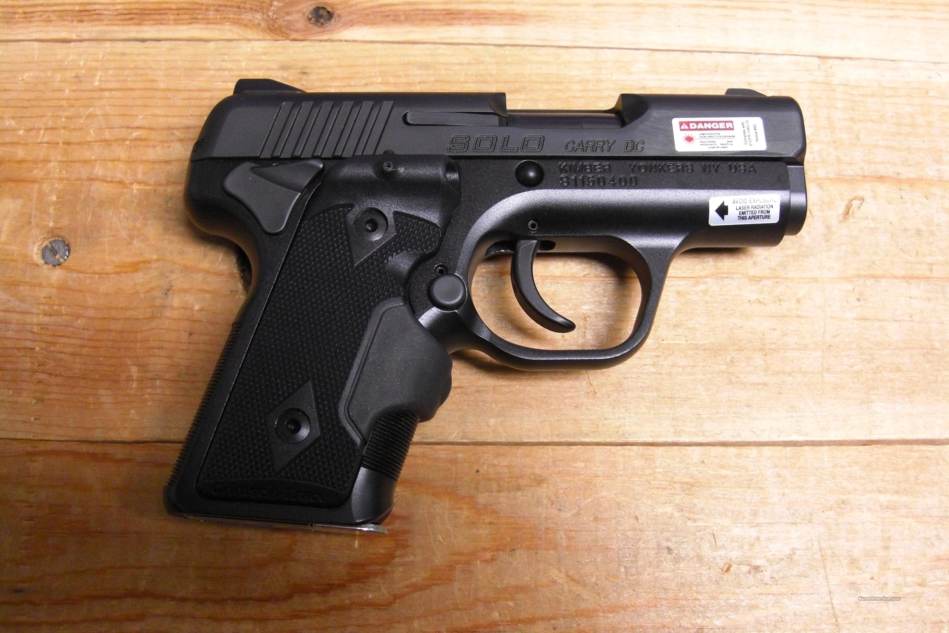 Solo Carry DC all black w/laser grips,night sights  Guns > Pistols > Kimber of America Pistols