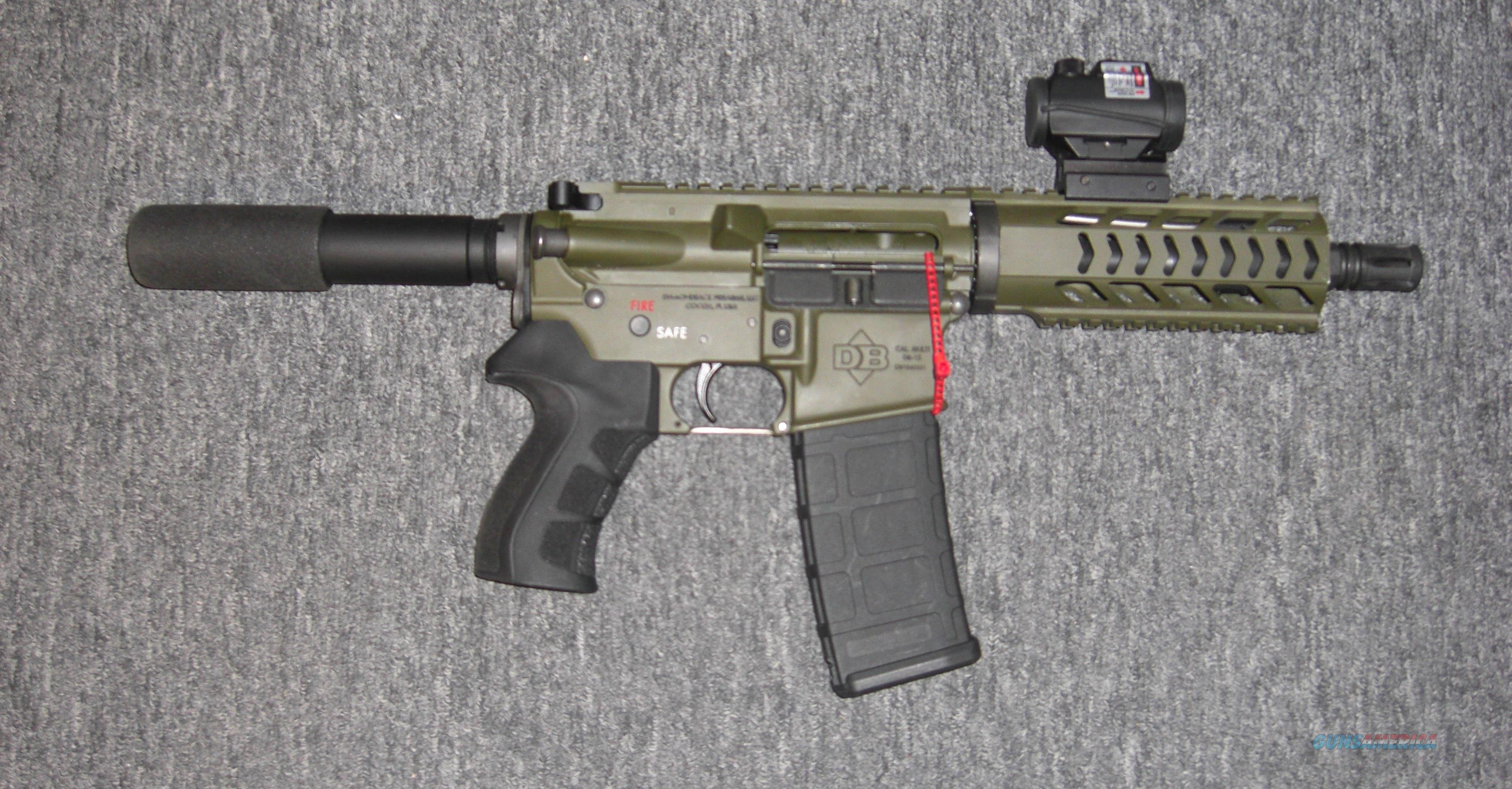 DB-15 pistol w/OD green finish, free floating handguard  Guns > Pistols > Diamondback Pistols