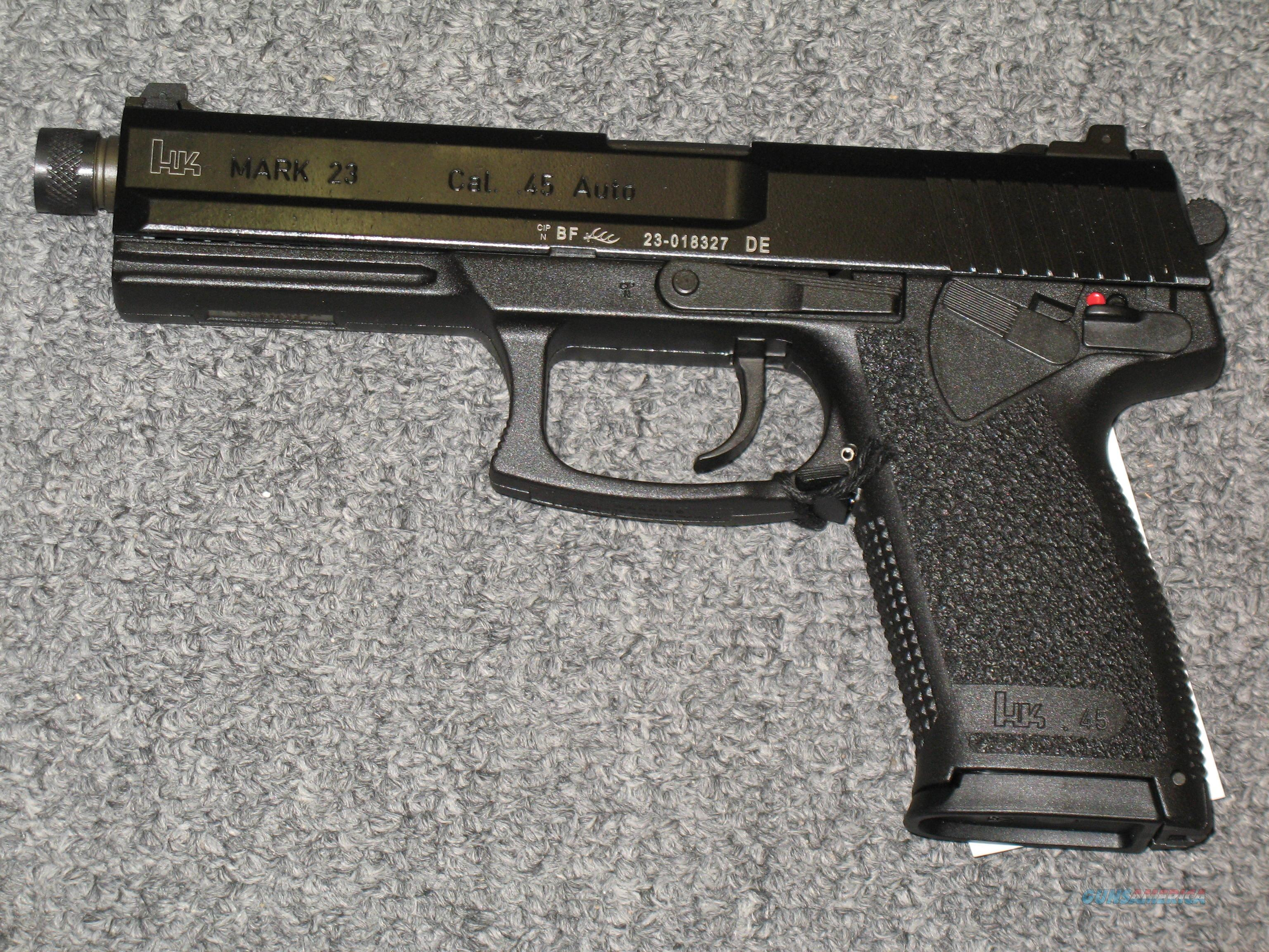 Mark 23  w/threaded barrel  Guns > Pistols > Heckler & Koch Pistols > Polymer Frame
