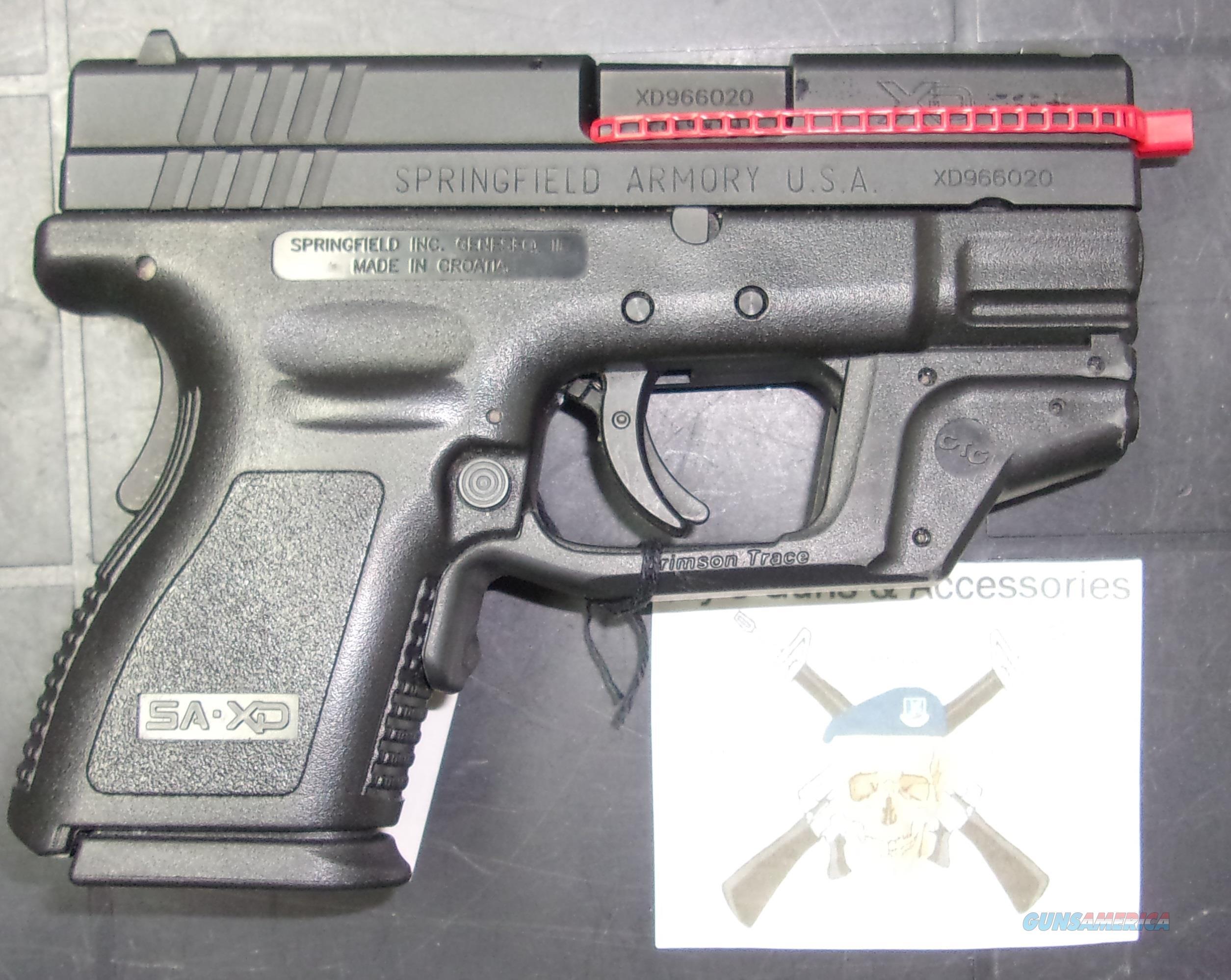 Springfield Armory XD-9 Sub-Compact w/Laser  Guns > Pistols > Springfield Armory Pistols > XD (eXtreme Duty)