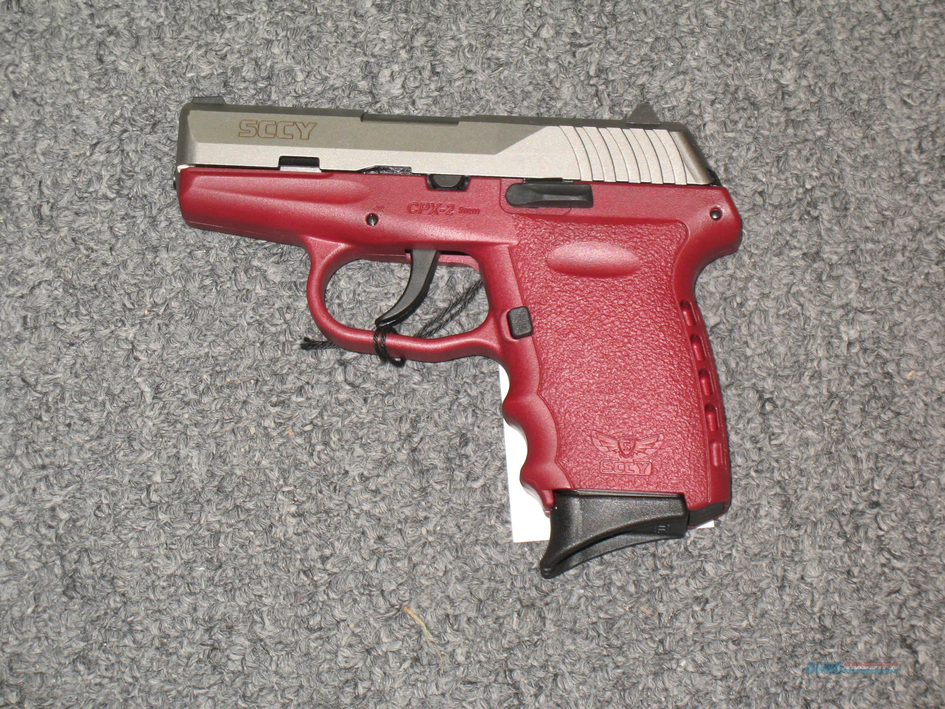 SCCY CPX-2  w/2 tone stainless Crimson (no safety)  Guns > Pistols > S Misc Pistols