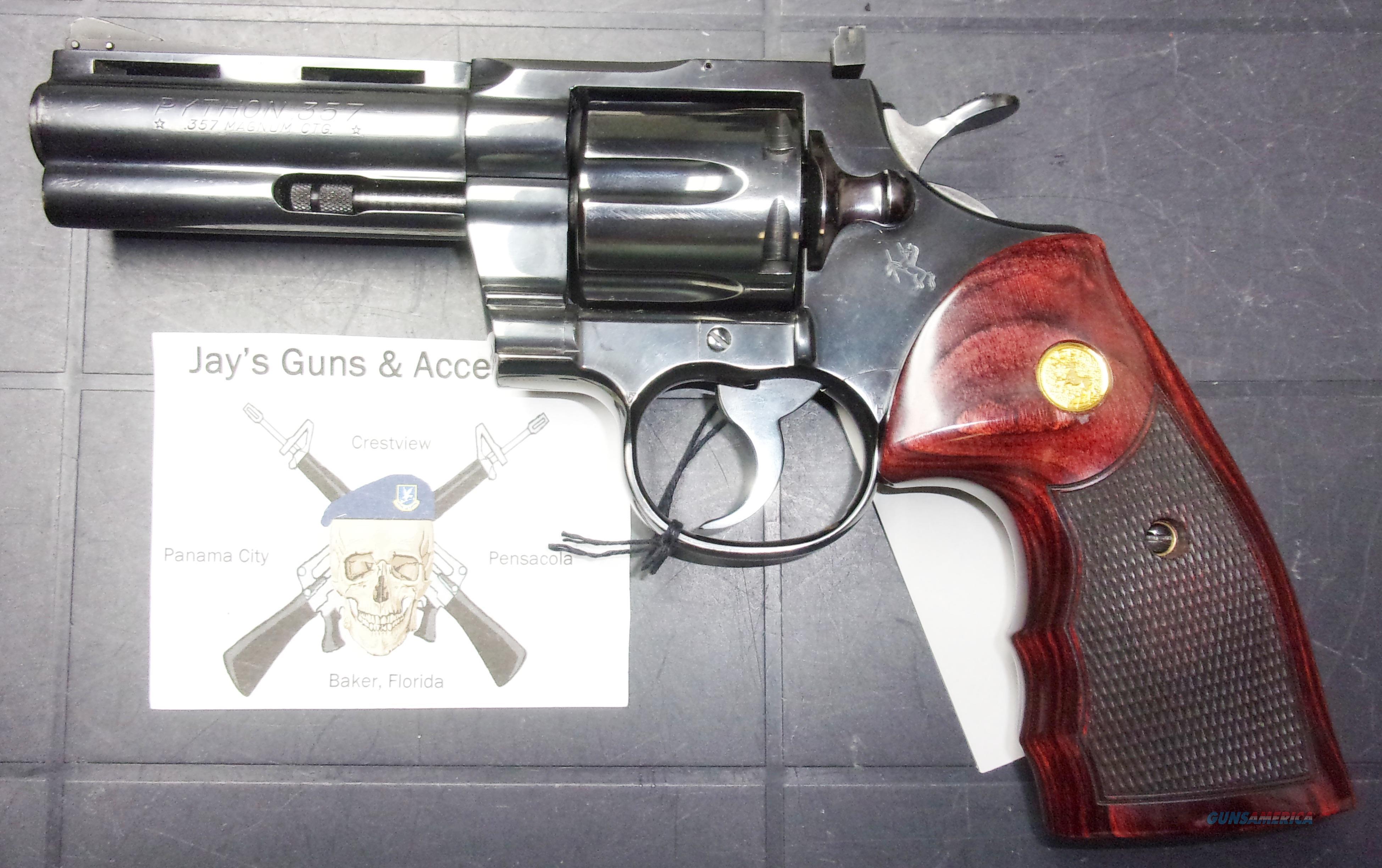 Colt Python  Guns > Pistols > Colt Double Action Revolvers- Modern