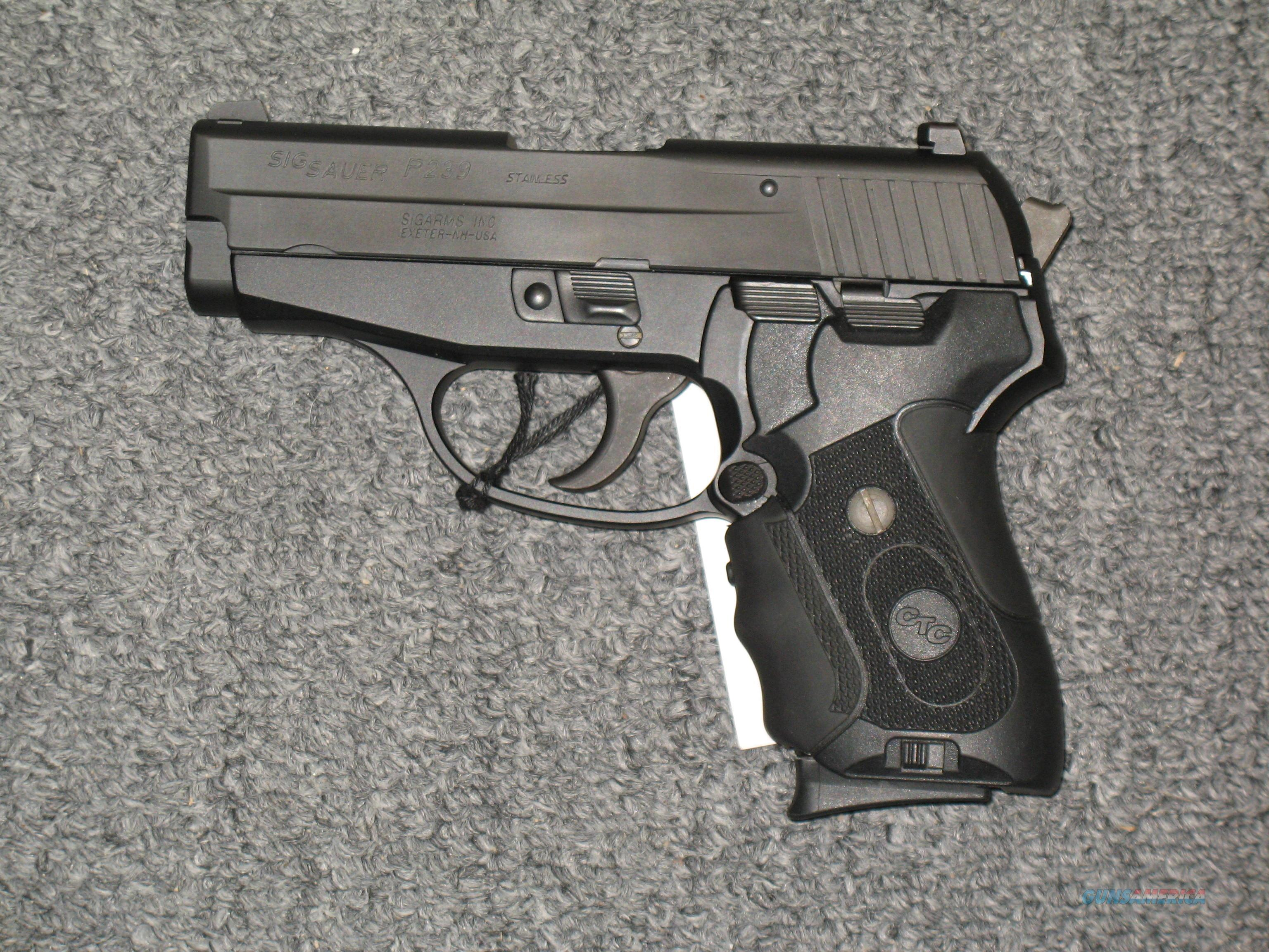 P239 with Crimson Trace laser grips and Night Sights with two 7 round magazines  Guns > Pistols > Sig - Sauer/Sigarms Pistols > P239