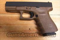 19 w/Flat Dark Earth finish, 2 15 rd. mags.  Glock Pistols > 19