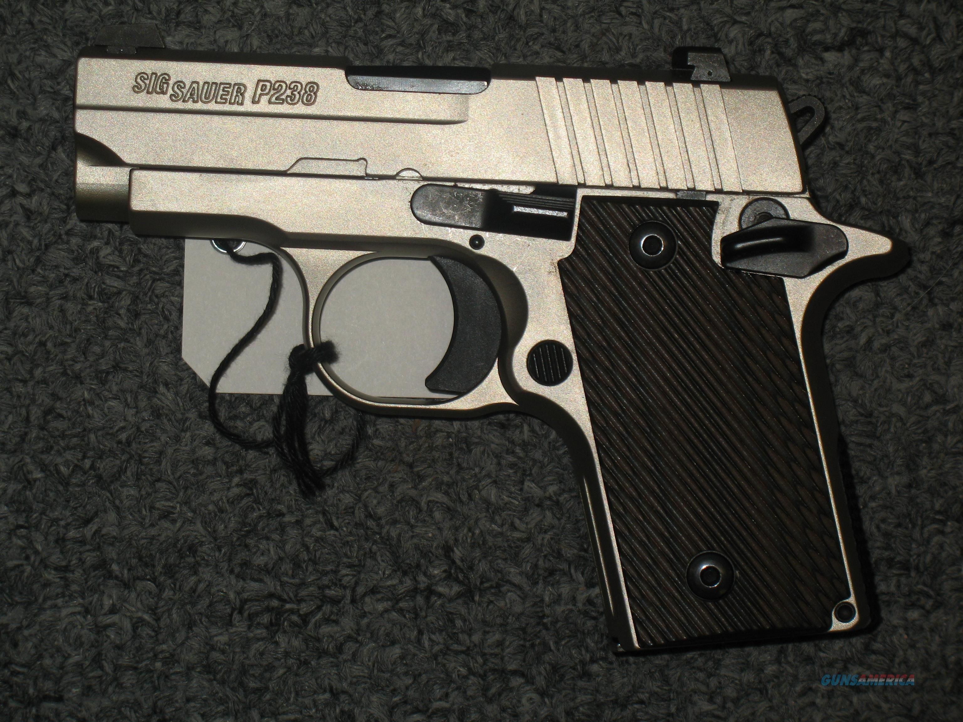 Sig Sauer P238 Nickel 380acp Steel Frame For Sale