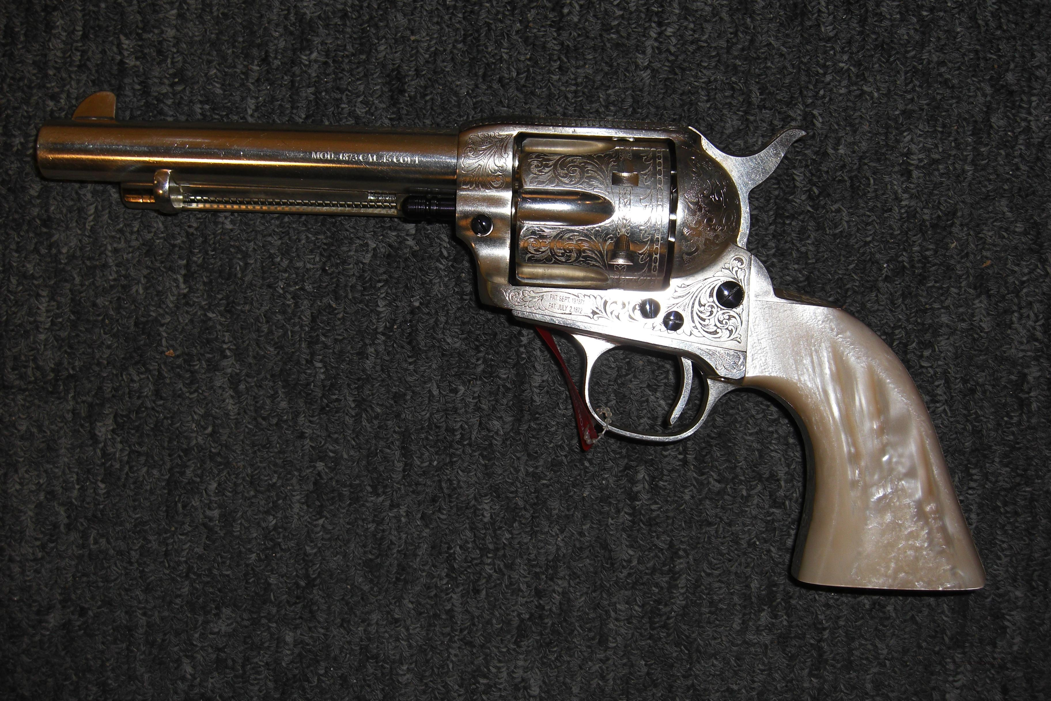 1873 Cattleman Silver Limited Edition highly engraved   Guns > Pistols > Uberti Pistols > Ctg.