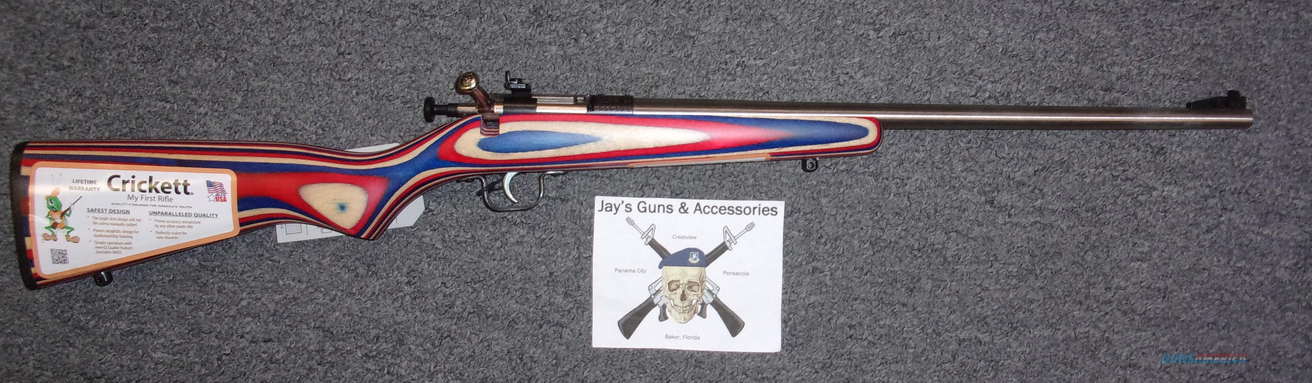 Keystone Arms Crickett (KSA3253) w/Red, White & Blue Laminated Stock  Guns > Rifles > Crickett-Keystone Rifles
