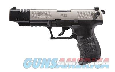 Walther P22 w/Nickel Slide & Compensated Bbl  Guns > Pistols > Walther Pistols > Post WWII > P22