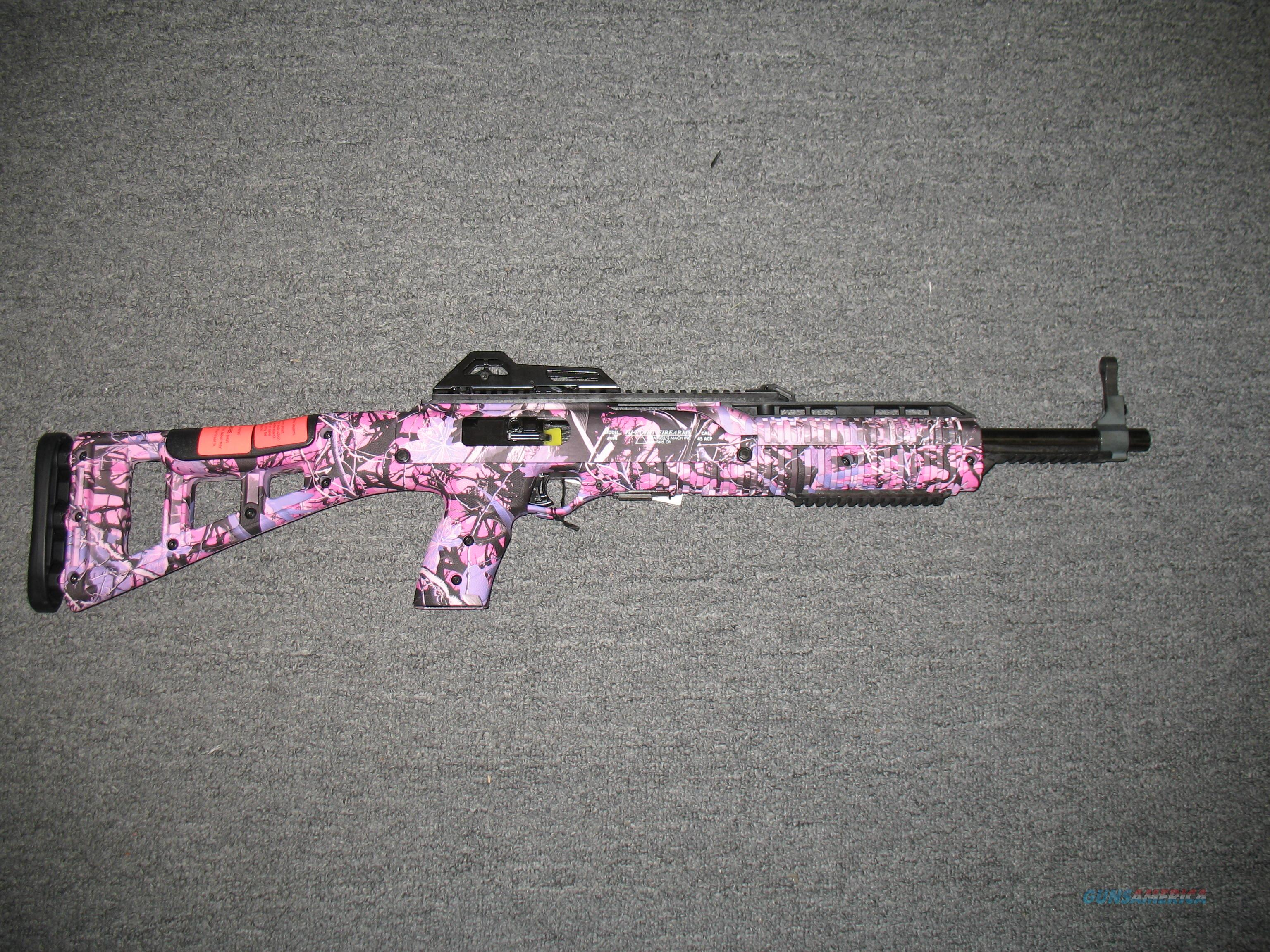 4595 w/pink camo and black finish  Guns > Rifles > Hi Point Rifles
