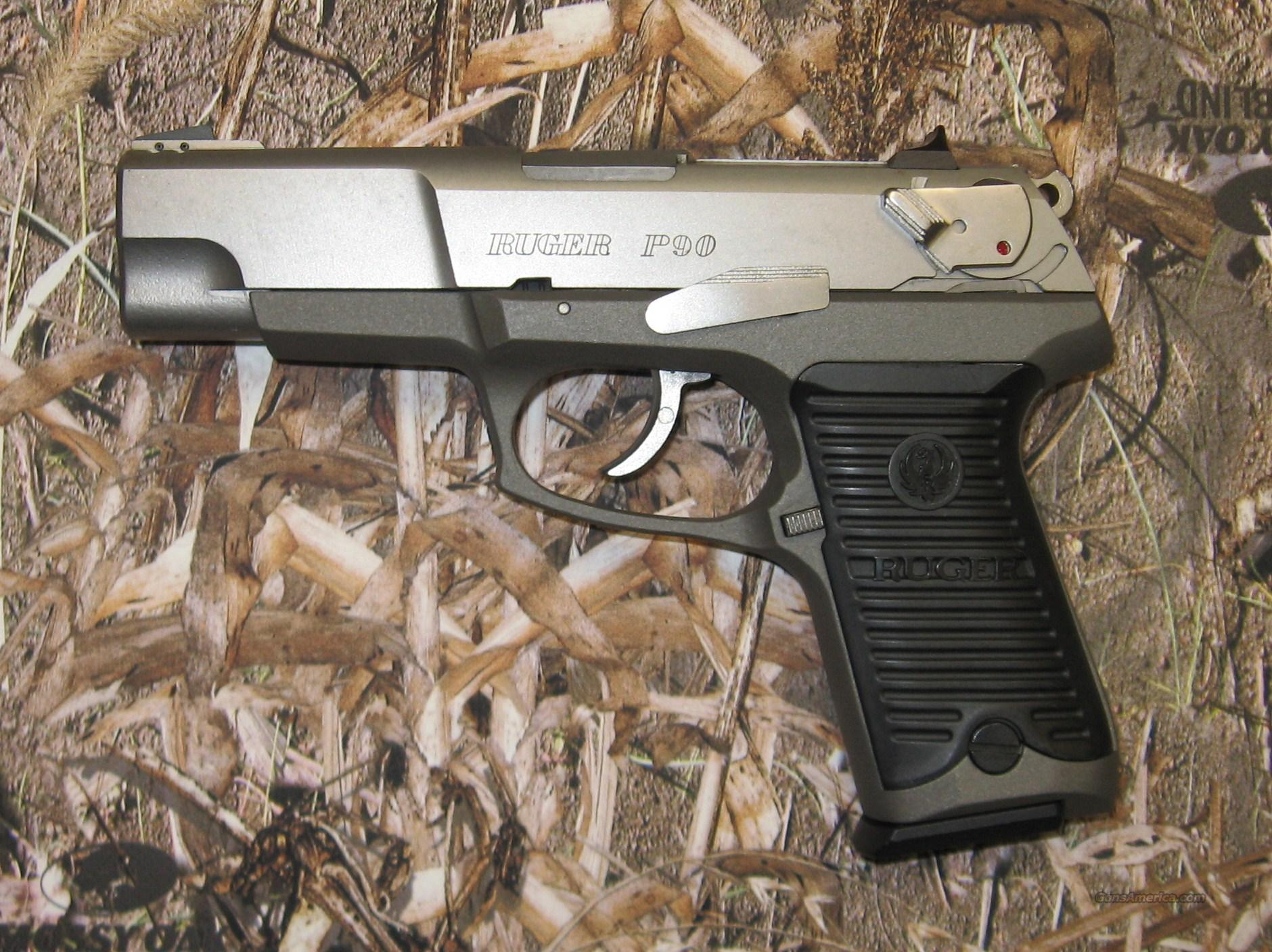 Ruger P90 Stainless USED  Guns > Pistols > Ruger Semi-Auto Pistols > P-Series