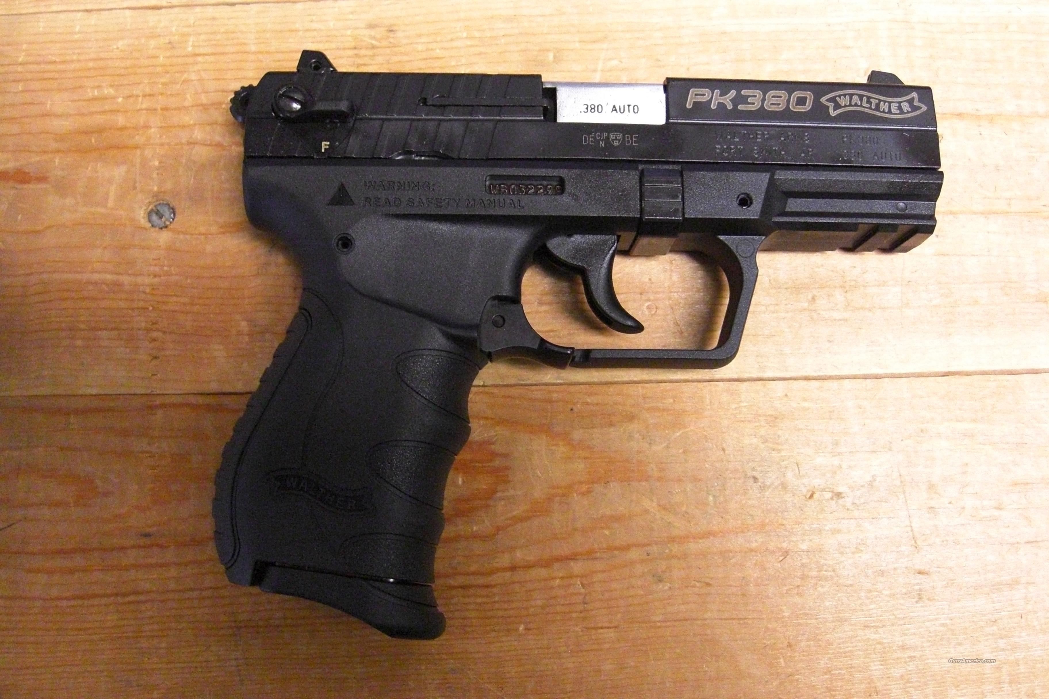 PK380  black finish  Guns > Pistols > Walther Pistols > Post WWII > PPK Series