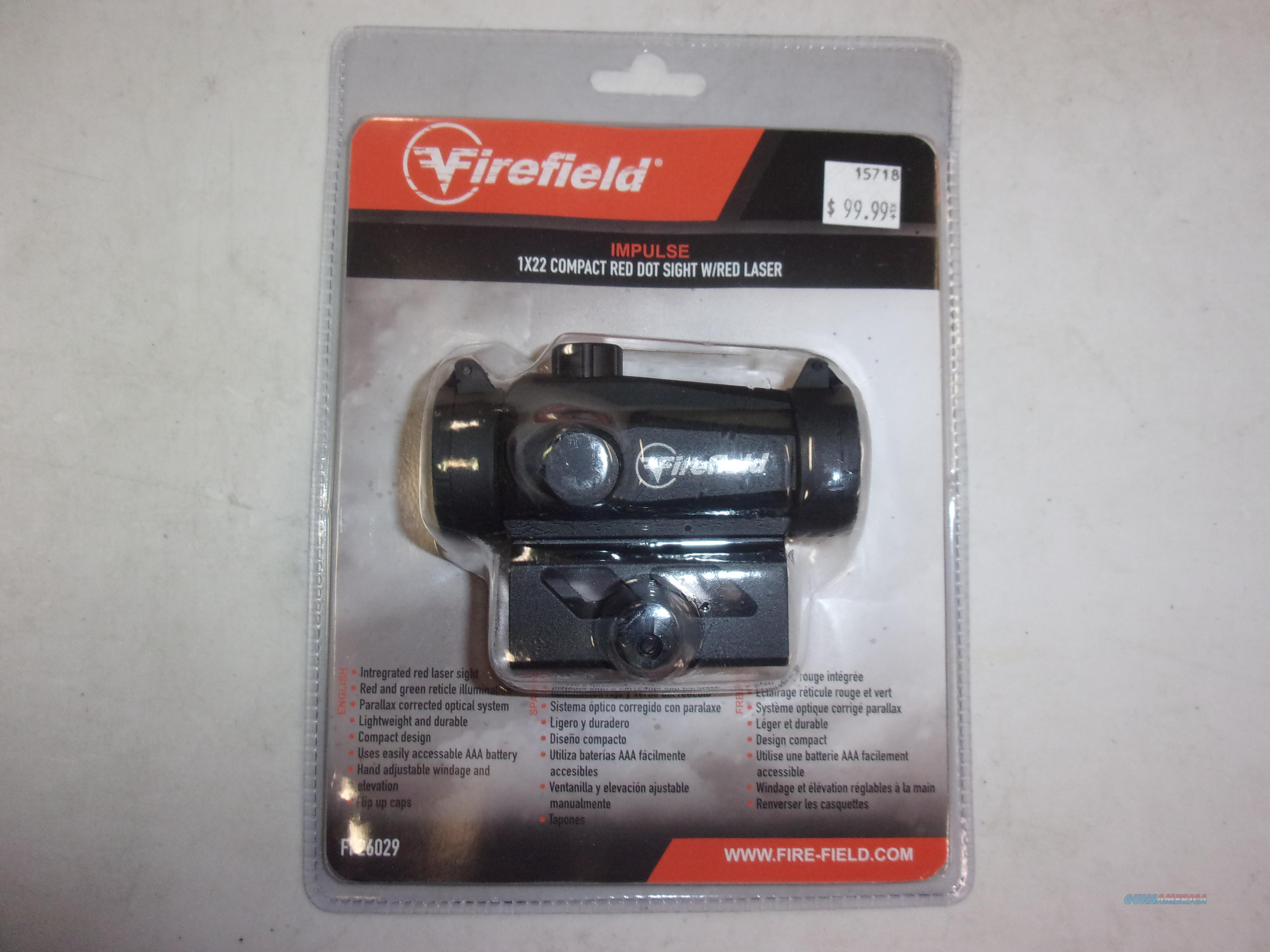 Firefield Impulse Red Dot Sight with integrated laser  Non-Guns > Scopes/Mounts/Rings & Optics > Tactical Scopes > Red Dot