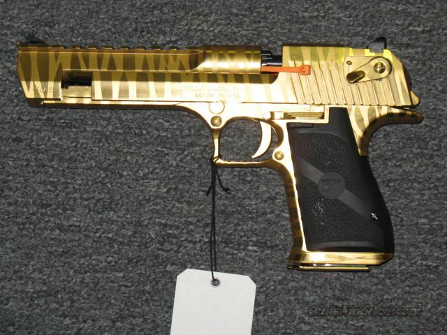 Desert Eagle Gold Tiger Striped Finish For Sale