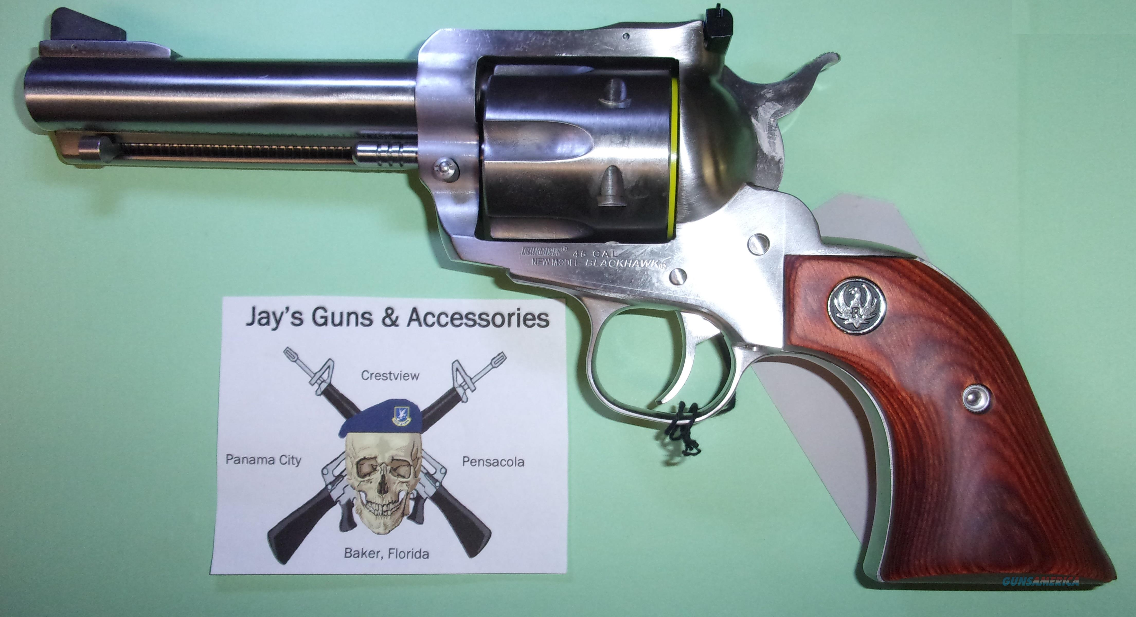 Ruger New Model Blackhawk (00459) in .45 LC  Guns > Pistols > Ruger Single Action Revolvers > Blackhawk Type