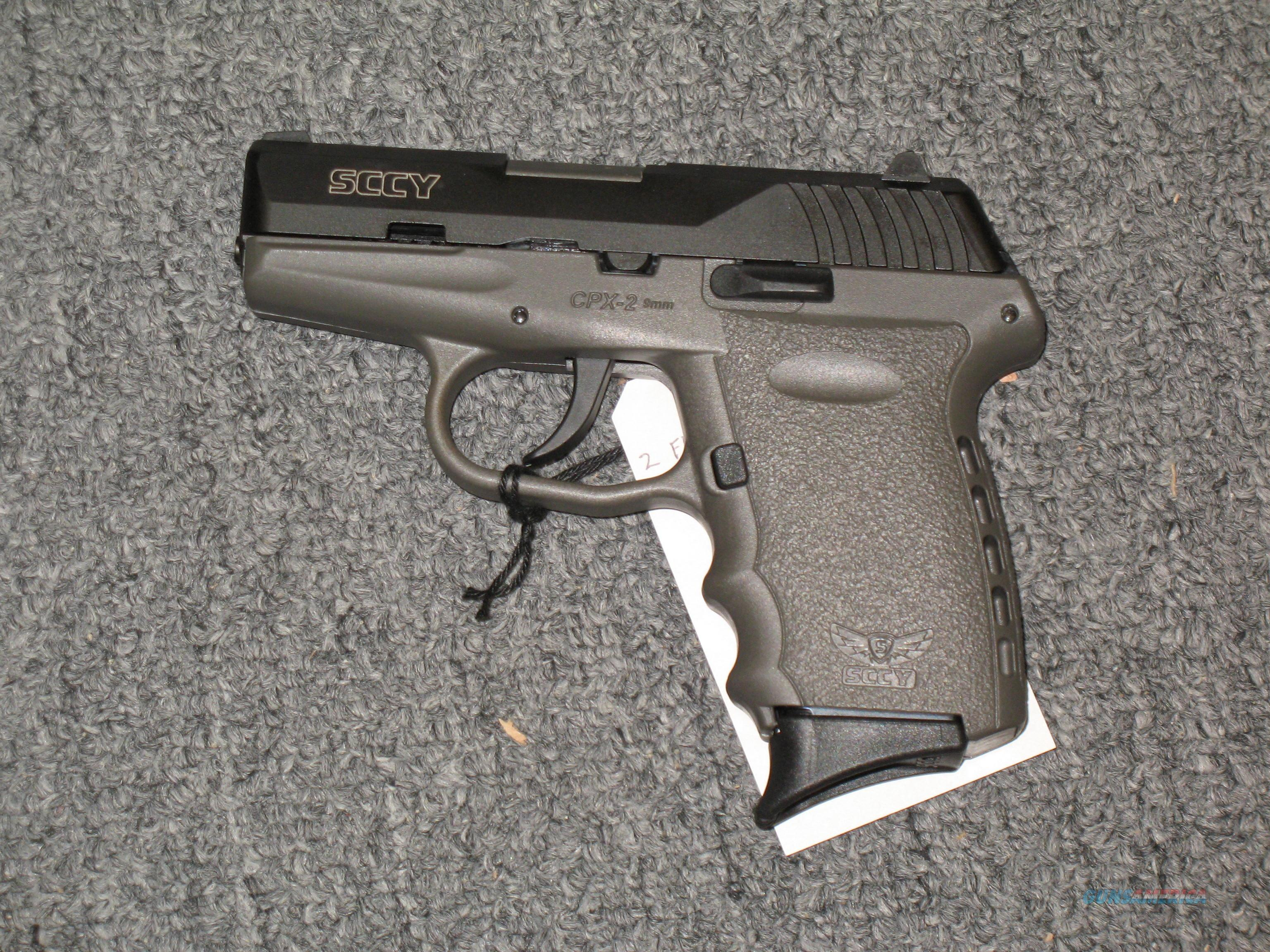 SCCY CPX-2 w/2 tone sniper gray and black finish, no external safety  Guns > Pistols > S Misc Pistols