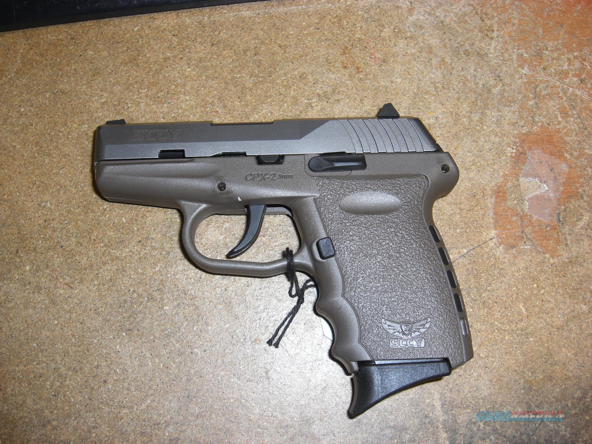 SCCY CPX-2 w/2 tone FDE finish, no external safety  Guns > Pistols > S Misc Pistols