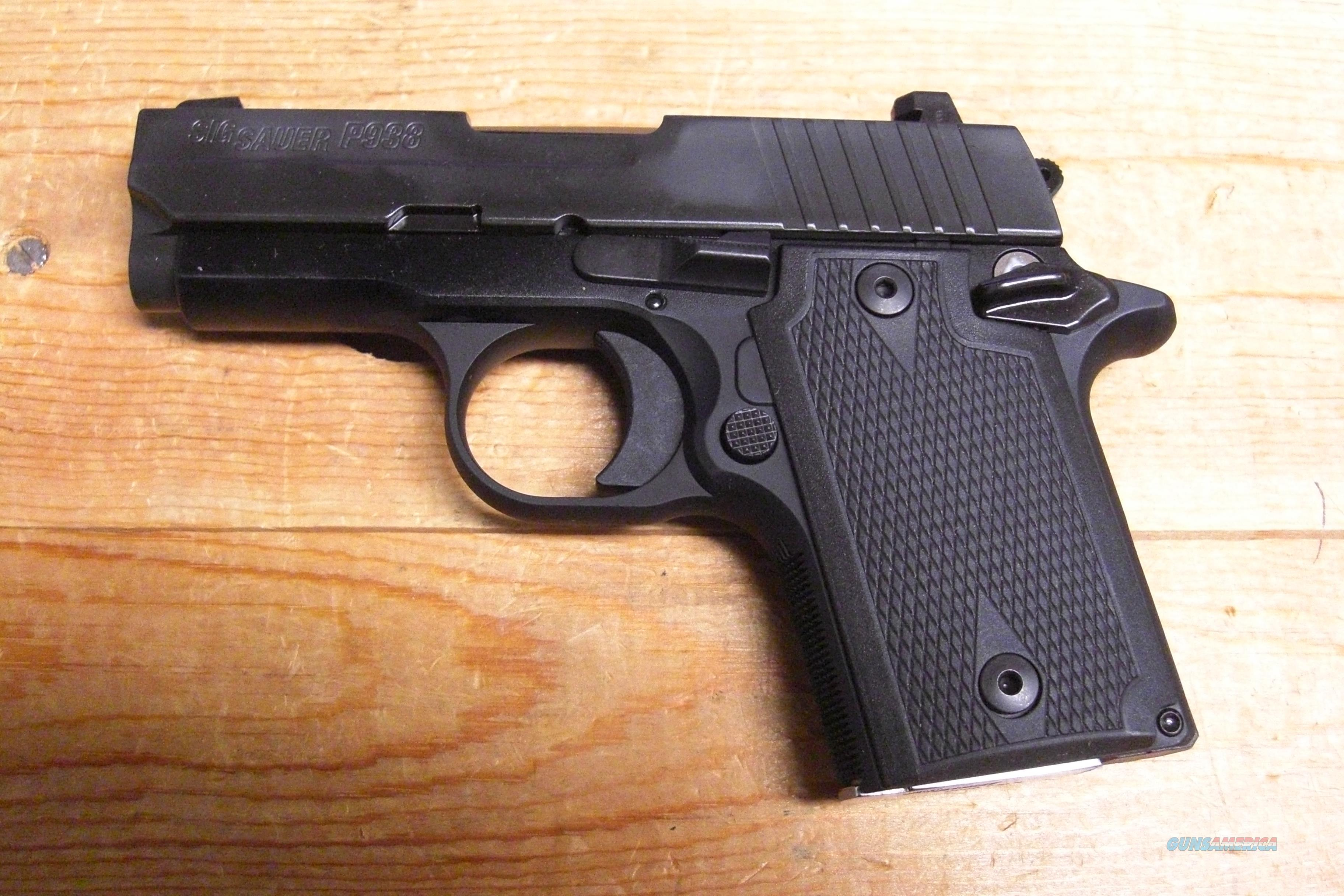 Sig Sauer P938 w/night sights, hard rubber grips, all black  Guns > Pistols > Sig - Sauer/Sigarms Pistols > P938