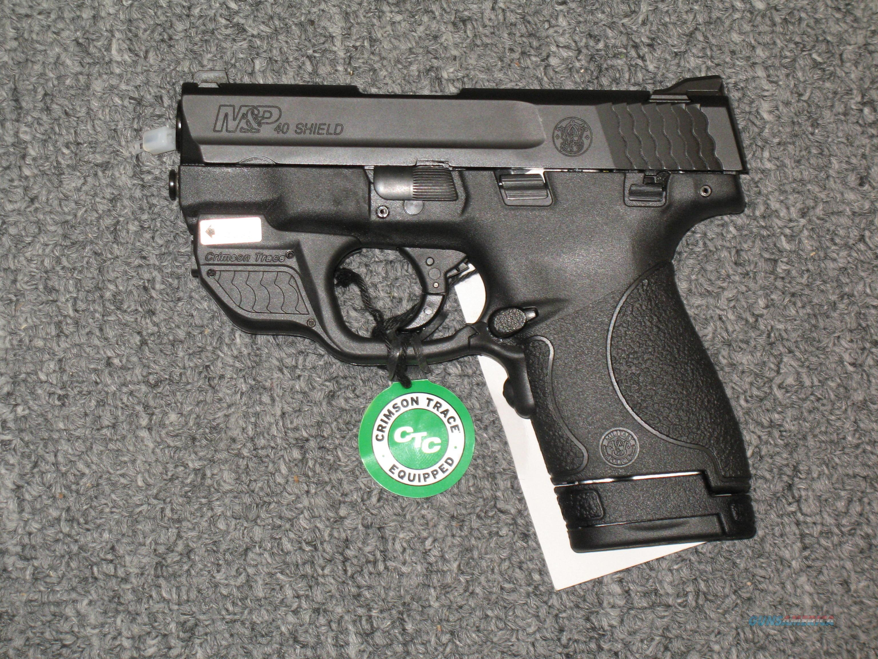 Smith & Wesson M&P 40 Shield with Crimson Trace Green Laser & thumb safety  Guns > Pistols > Smith & Wesson Pistols - Autos > Polymer Frame
