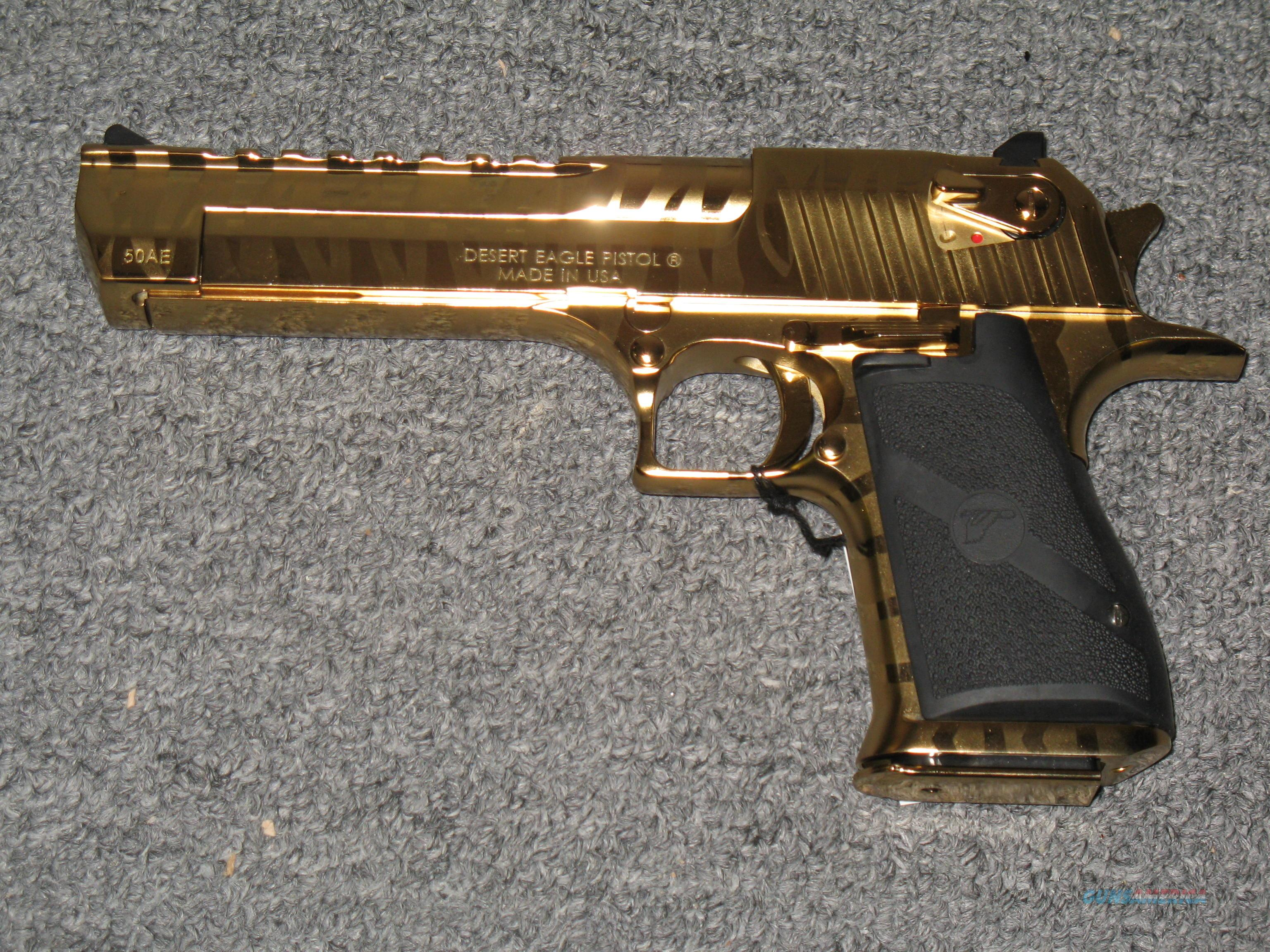 desert eagle 50 ae titanium gold bengal tiger for sale. Black Bedroom Furniture Sets. Home Design Ideas