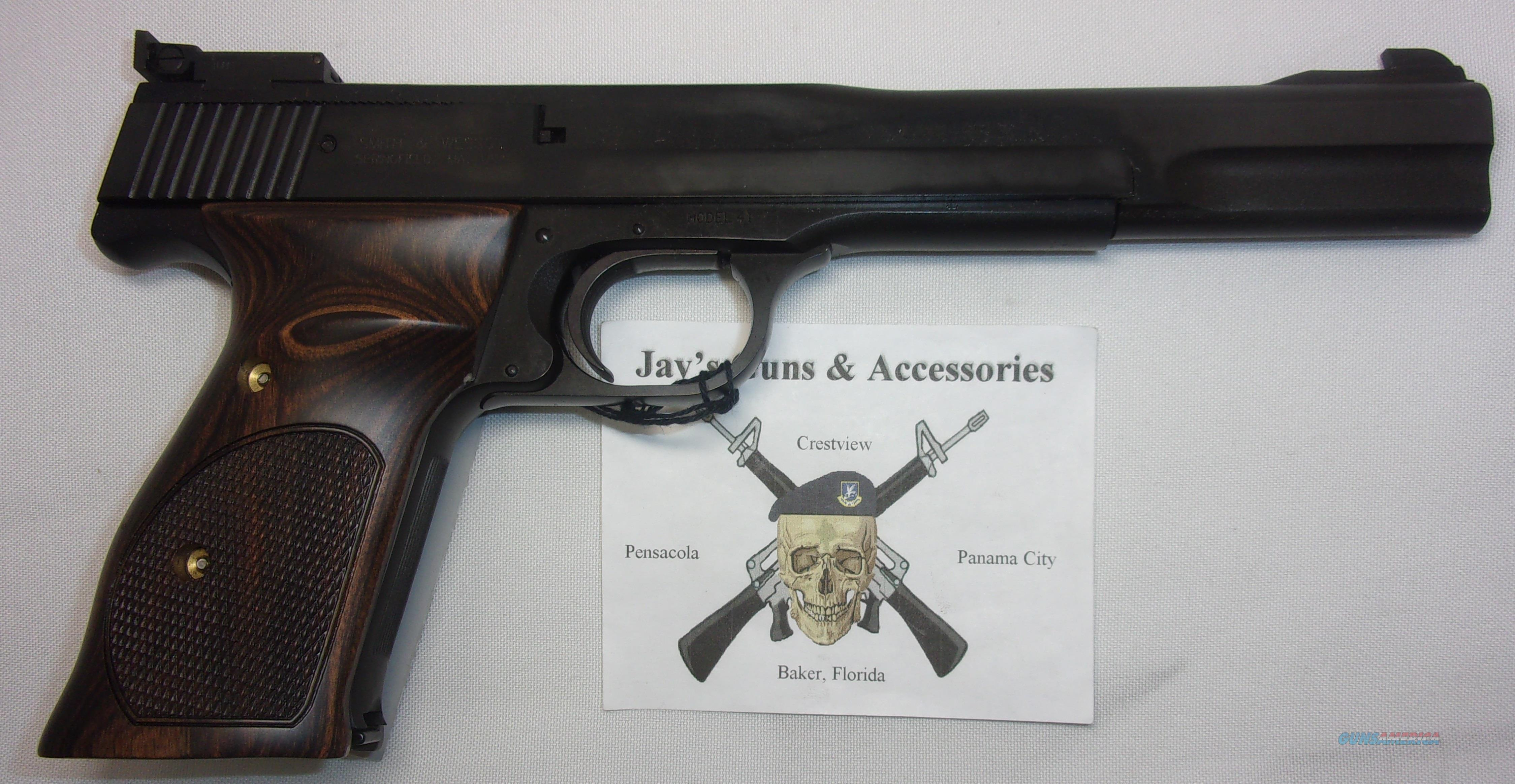 Smith & Wesson 41 (130512)  Guns > Pistols > Smith & Wesson Pistols - Autos > Steel Frame